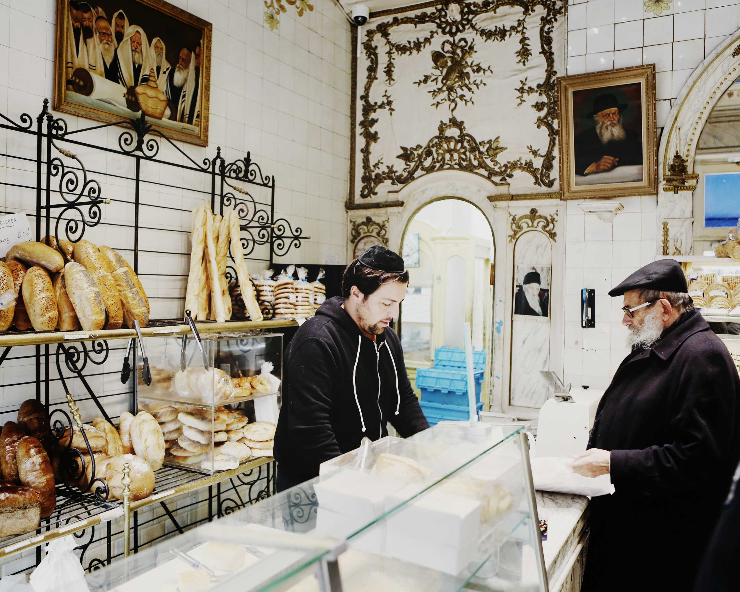 Life goes on at this Jewish bakery in the Marais, a traditionally Jewish quarter in Paris, France, Jan. 11, 2015.