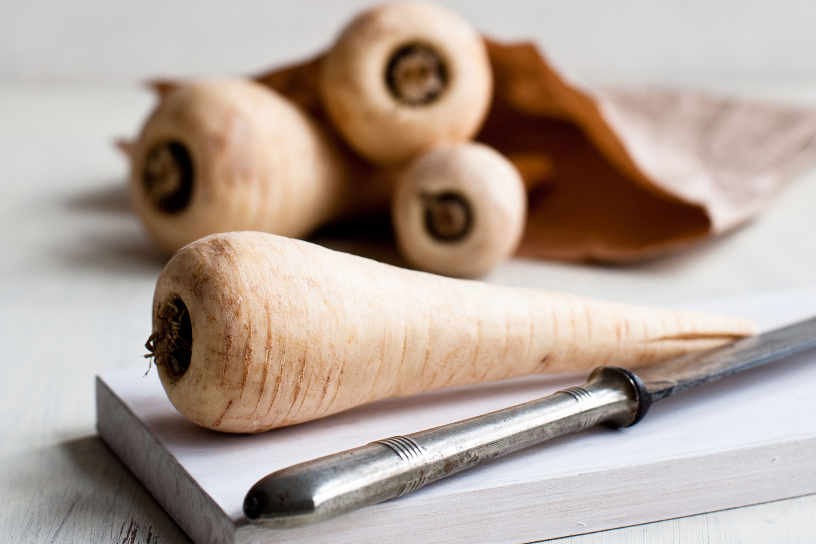 <strong>Parsnips:</strong> Yes, even foods that aren't green can withstand the cold. The pale parsnip, which looks like a yellow-white carrot, is best harvested after a hard frost, Casanova says.