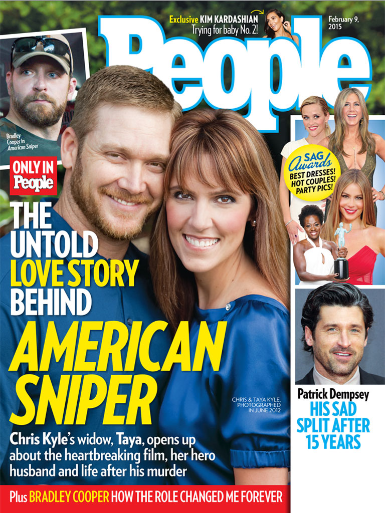 Chris and Taya Kyle on the cover of PEOPLE