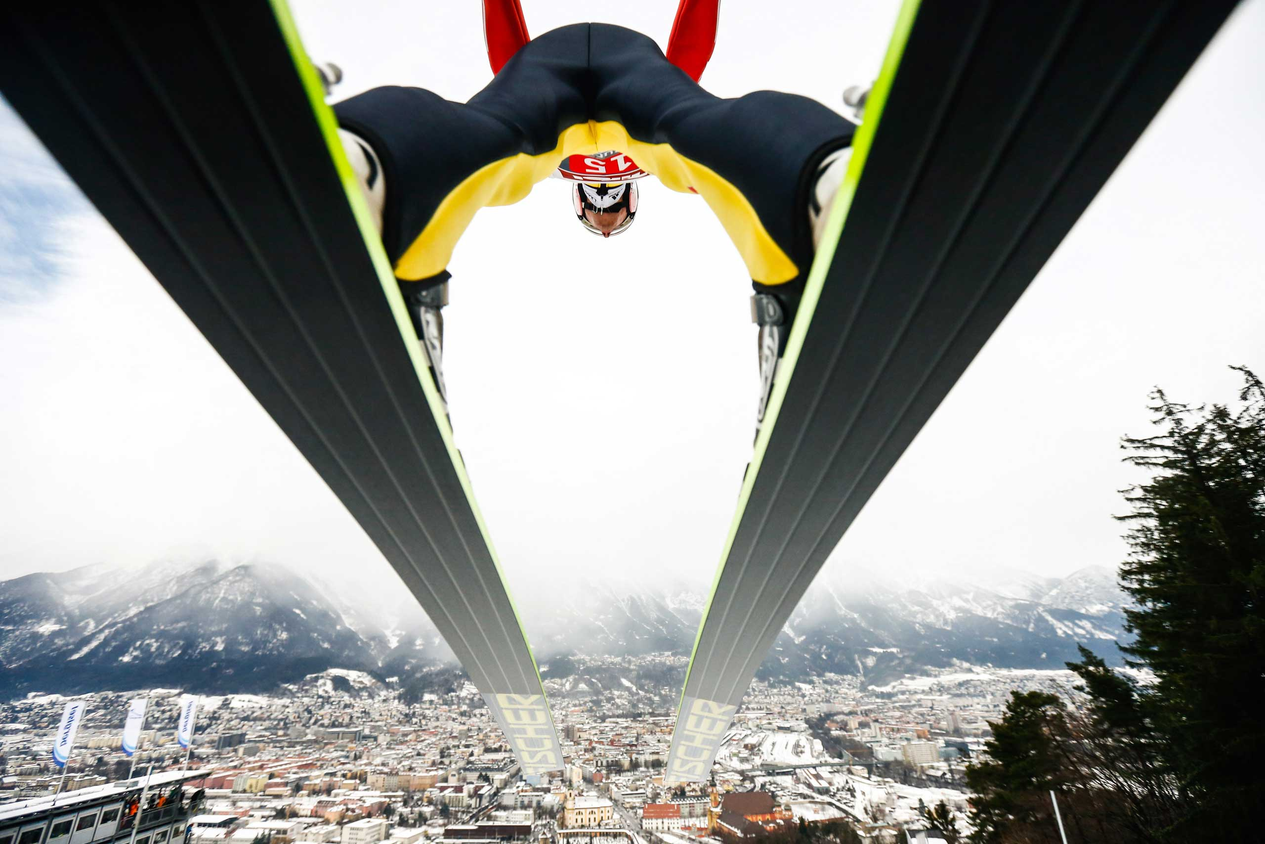 Jan. 4, 2015. Severin Freund of Germany during the FIS Ski Jumping World Cup in Innsbruck, Austria.