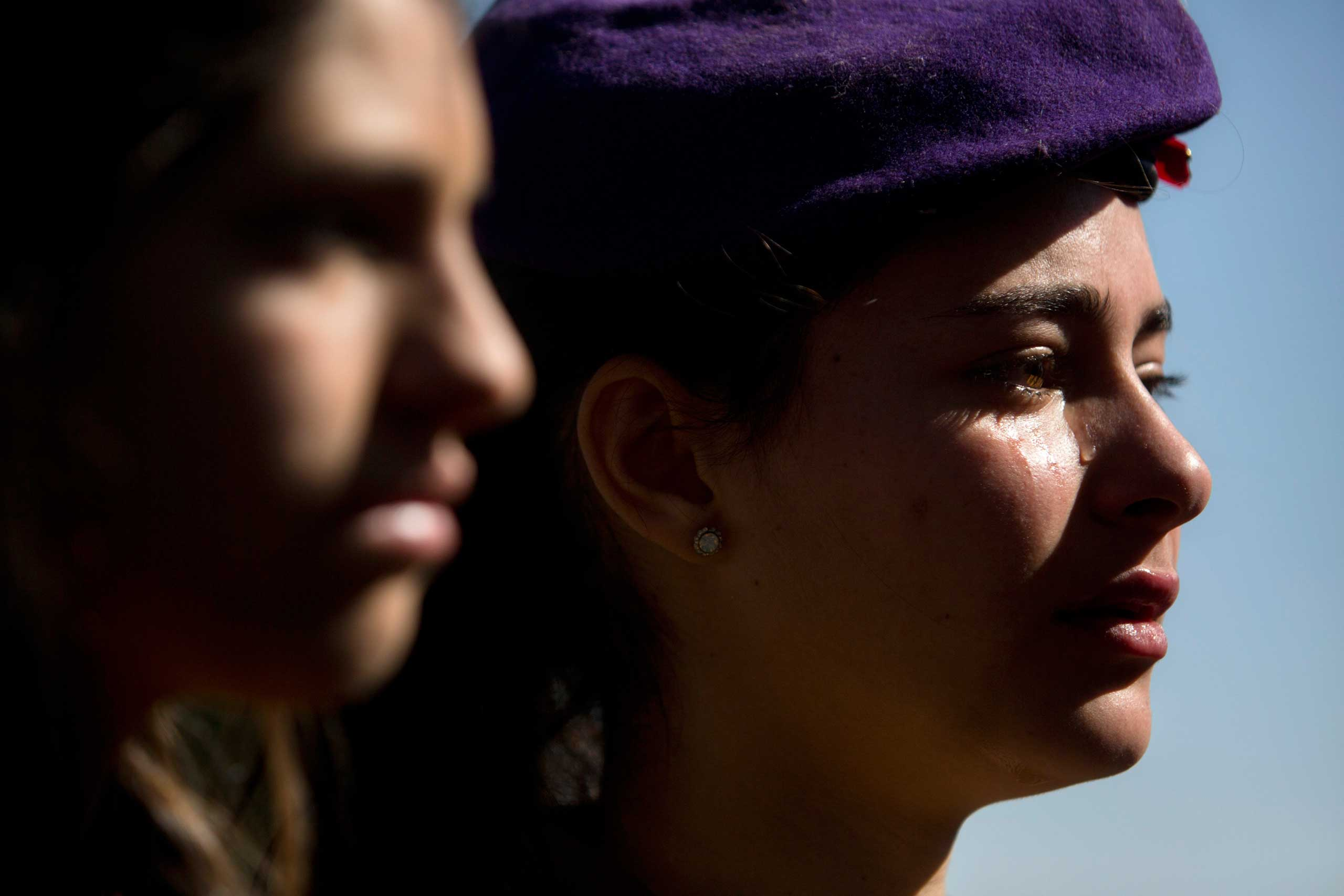 Jan. 29, 2015. Israeli soldiers cry during the funeral of Major Yochai Kalangel in Jerusalem. Israeli Prime Minister Benjamin Netanyahu blamed Iran for a deadly flare-up along the Israeli-Lebanese border, the deadliest escalation in the disputed zone since the 2006 war between Hezbollah and Israel.
