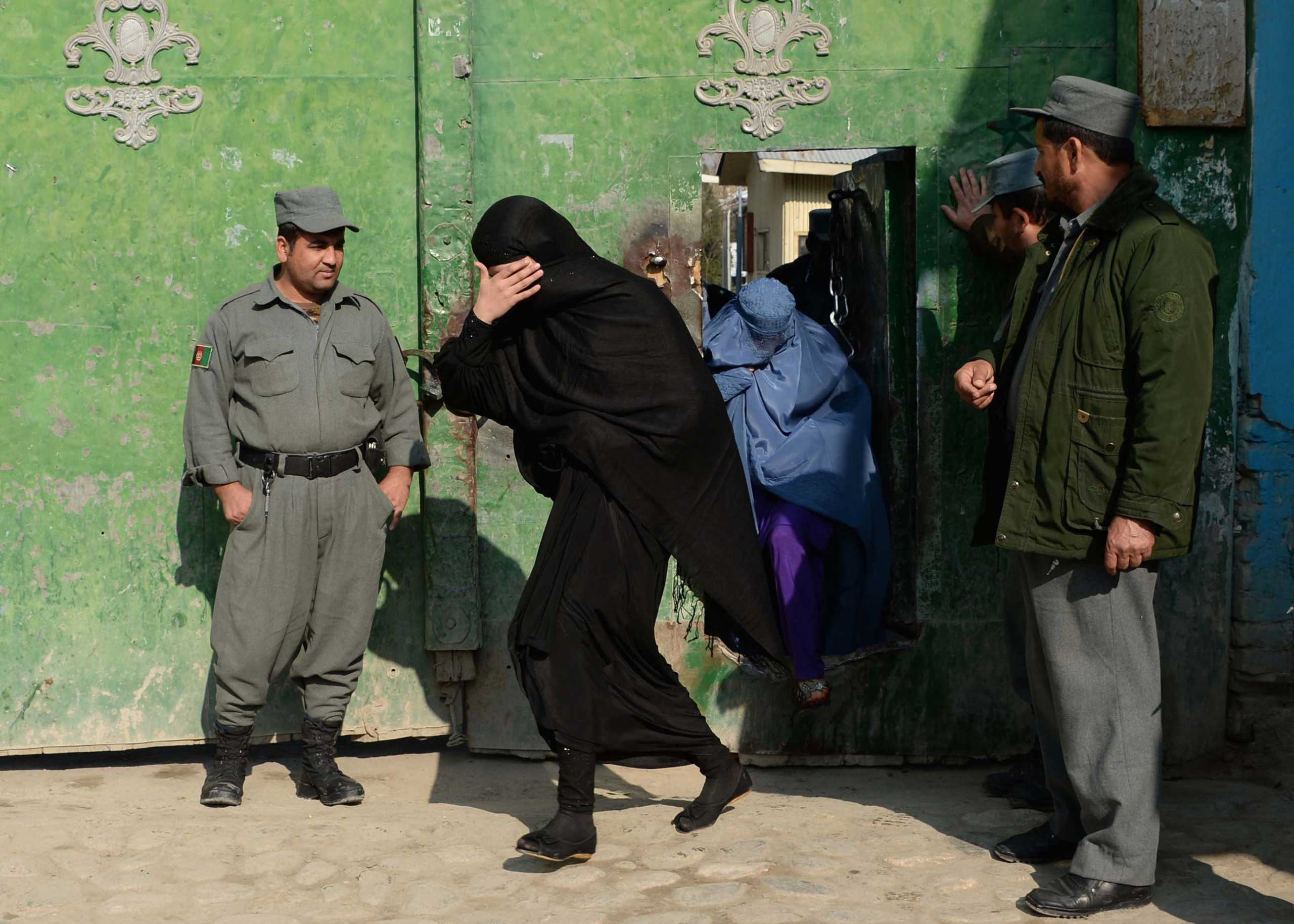Jan. 15, 2015. Newly-released Afghan prisoners leave a prison in Jalalabad. Over thirty prisoners, including seven women, were released following a decree issued by President Ashraf Ghani to observe the Prophet Mohammad's birthday.