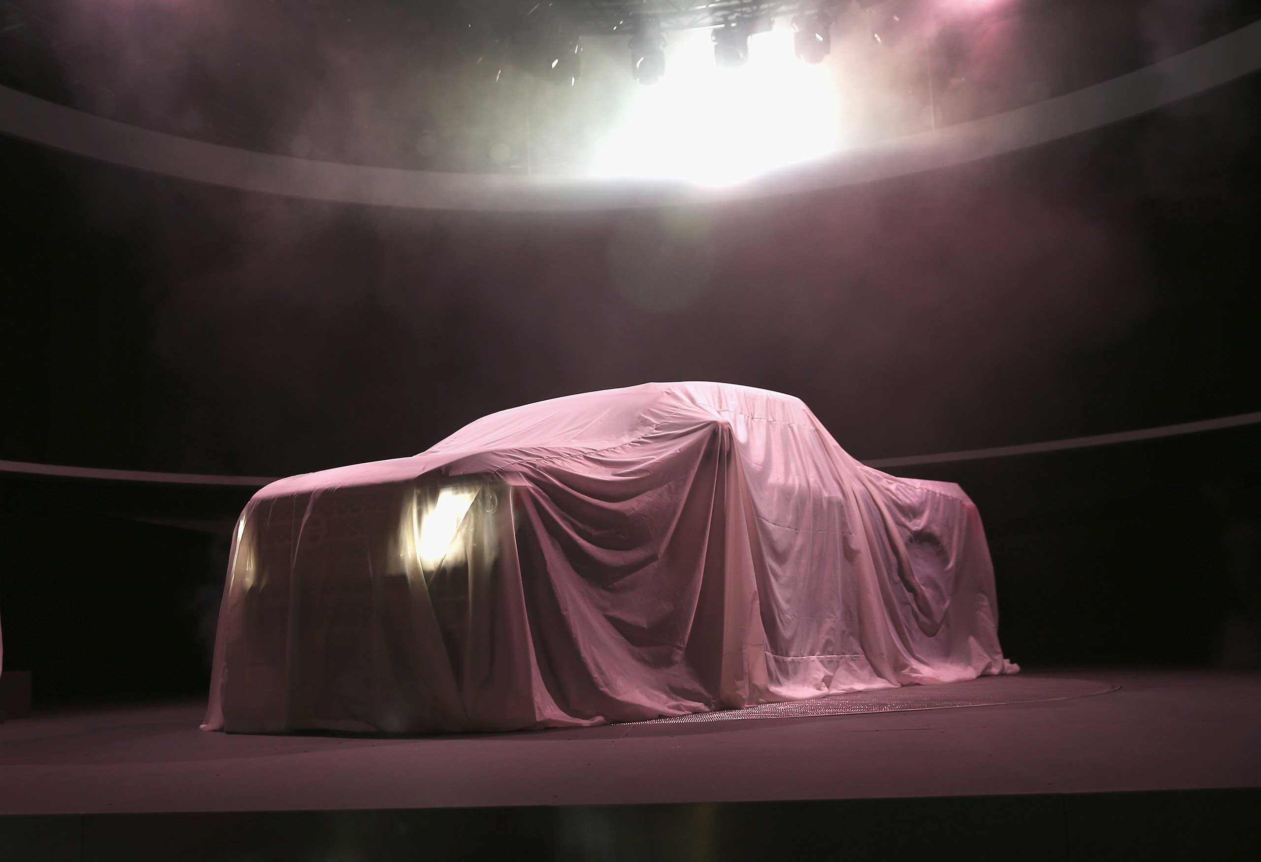 Jan. 12, 2015. Nissan prepares to introduce the new Titan pickup truck at the North American International Auto Show (NAIAS) in Detroit, Mich.