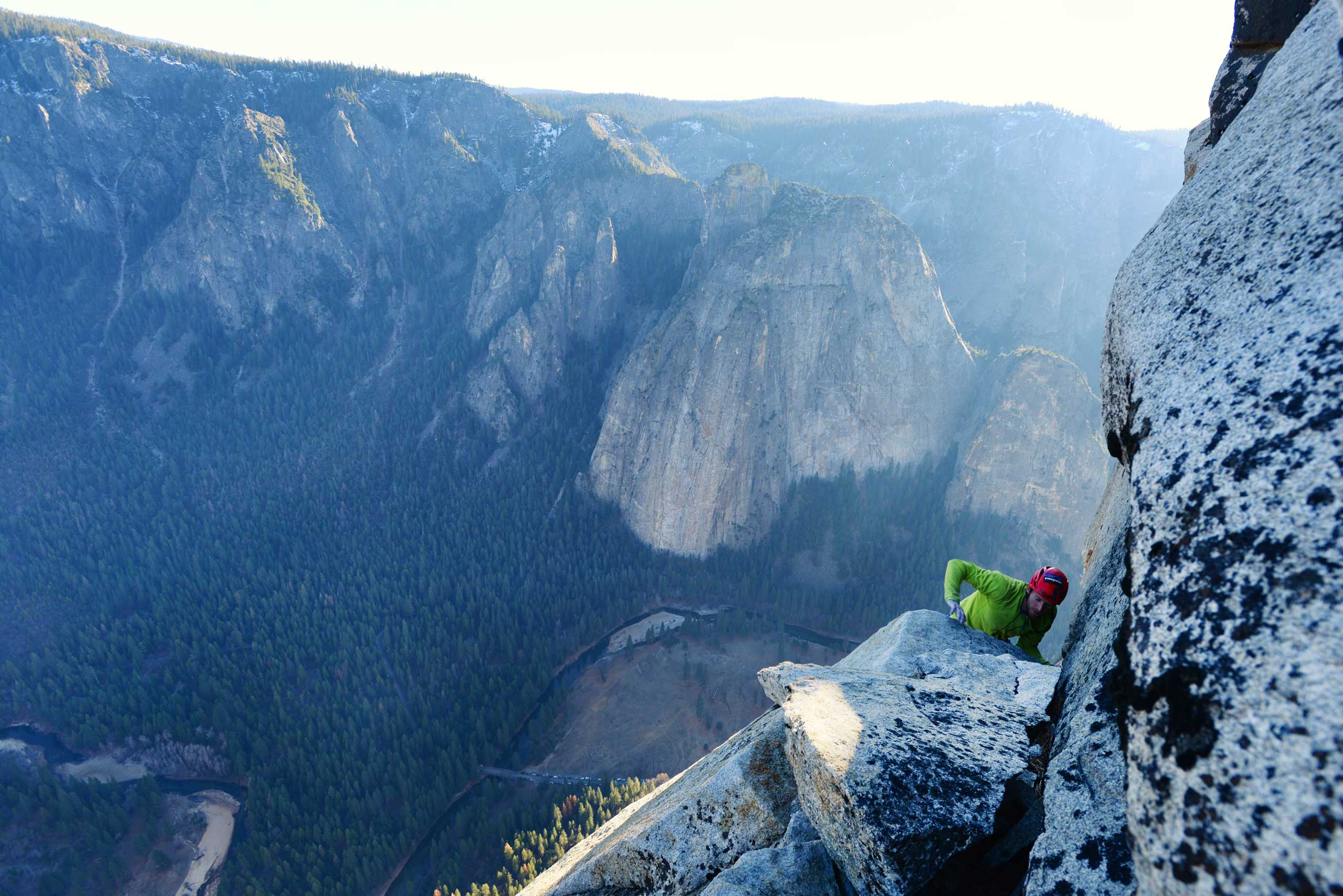 Jan. 14, 2015. Tommy Caldwell completing the historic free climb to the top of El Capitan's Dawn Wall, a 3,000-foot sheer granite face in Yosemite National Park, Calif.