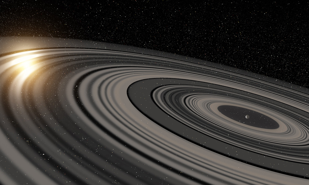 Living large: Artist's conception of the giant ring system
