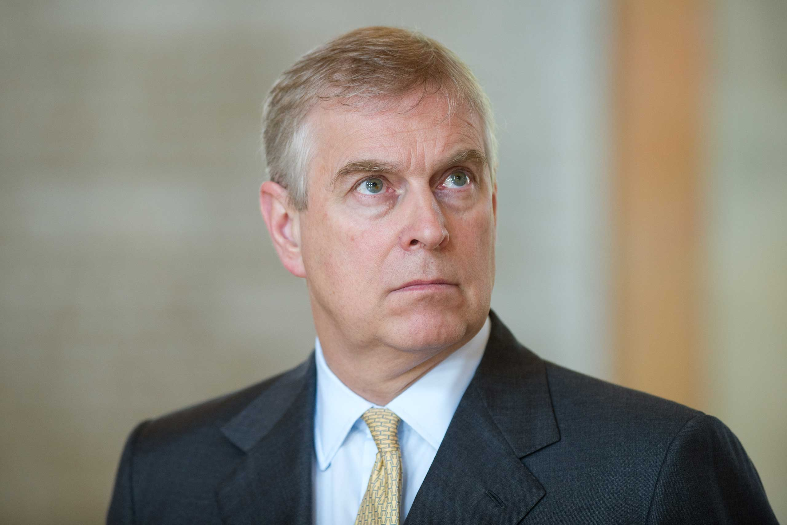 Prince Andrew, Duke of York, visits Georg August University in Göttingen, Germany, on June 3, 2014