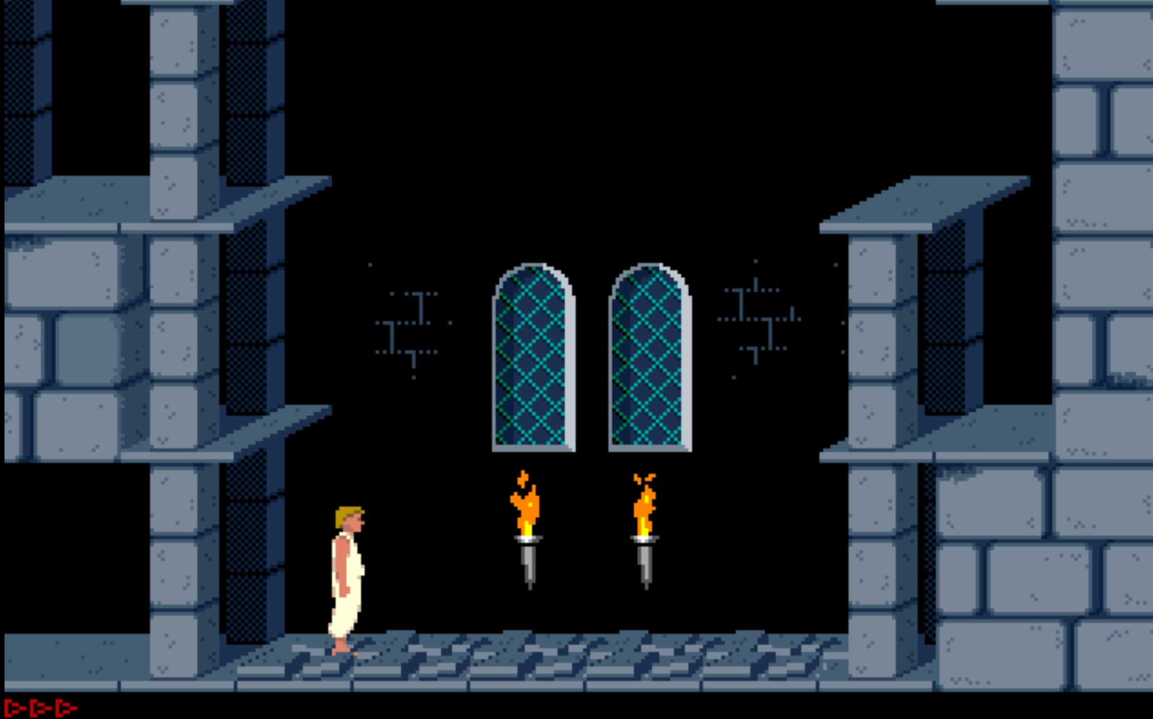 4D Prince of Persia (1994)                                                               Children of the 1990s will fondly recall this run-and-jump platformer as a top-notch adventure game, with great graphics and gameplay — and it has infinite lives. Score!