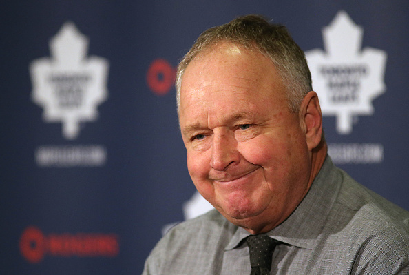 Randy Carlyle takes questions after the Toronto Maple Leafs lose to the Nashville Predators 9-2 on Nov. 18, 2014.