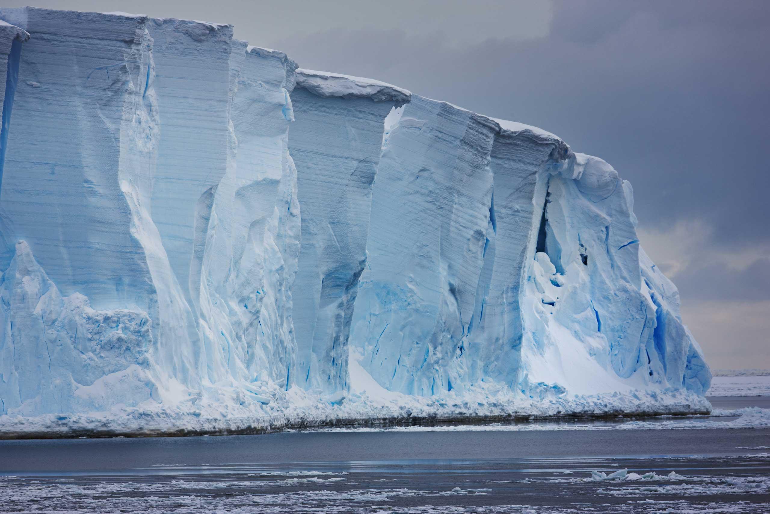 The Ross Ice Shelf in Antarctica