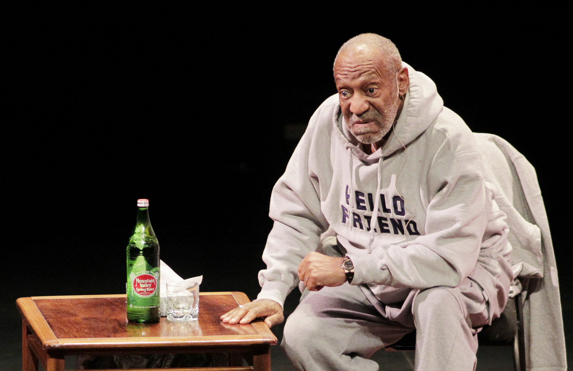 Comedian Bill Cosby performs at The Temple Buell Theatre in Denver, Colo. on Jan. 17, 2015.