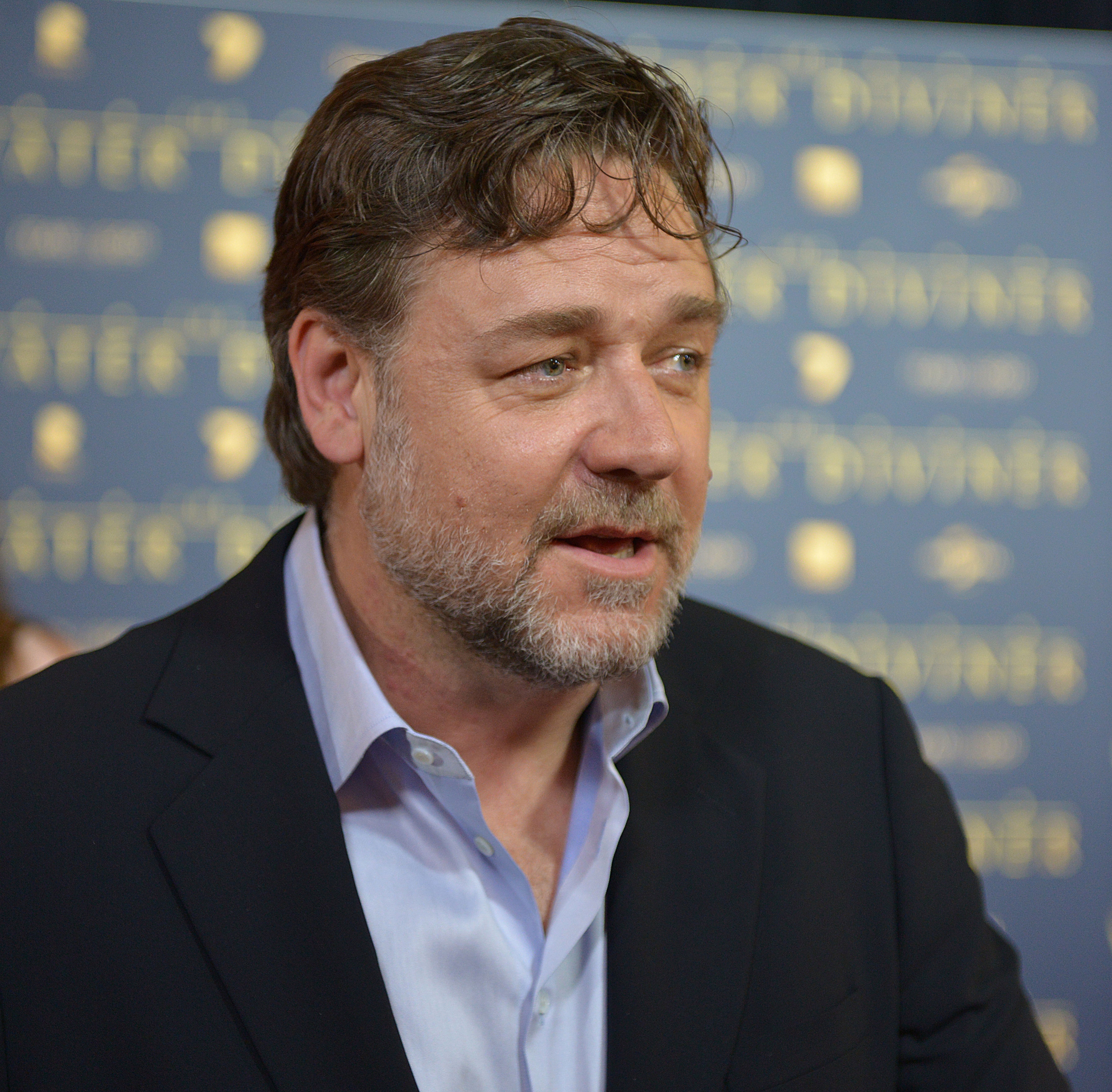 Russell Crowe arrives for the premiere of 'The Water Diviner' in Melbourne, Australia on Dec. 3, 2014.