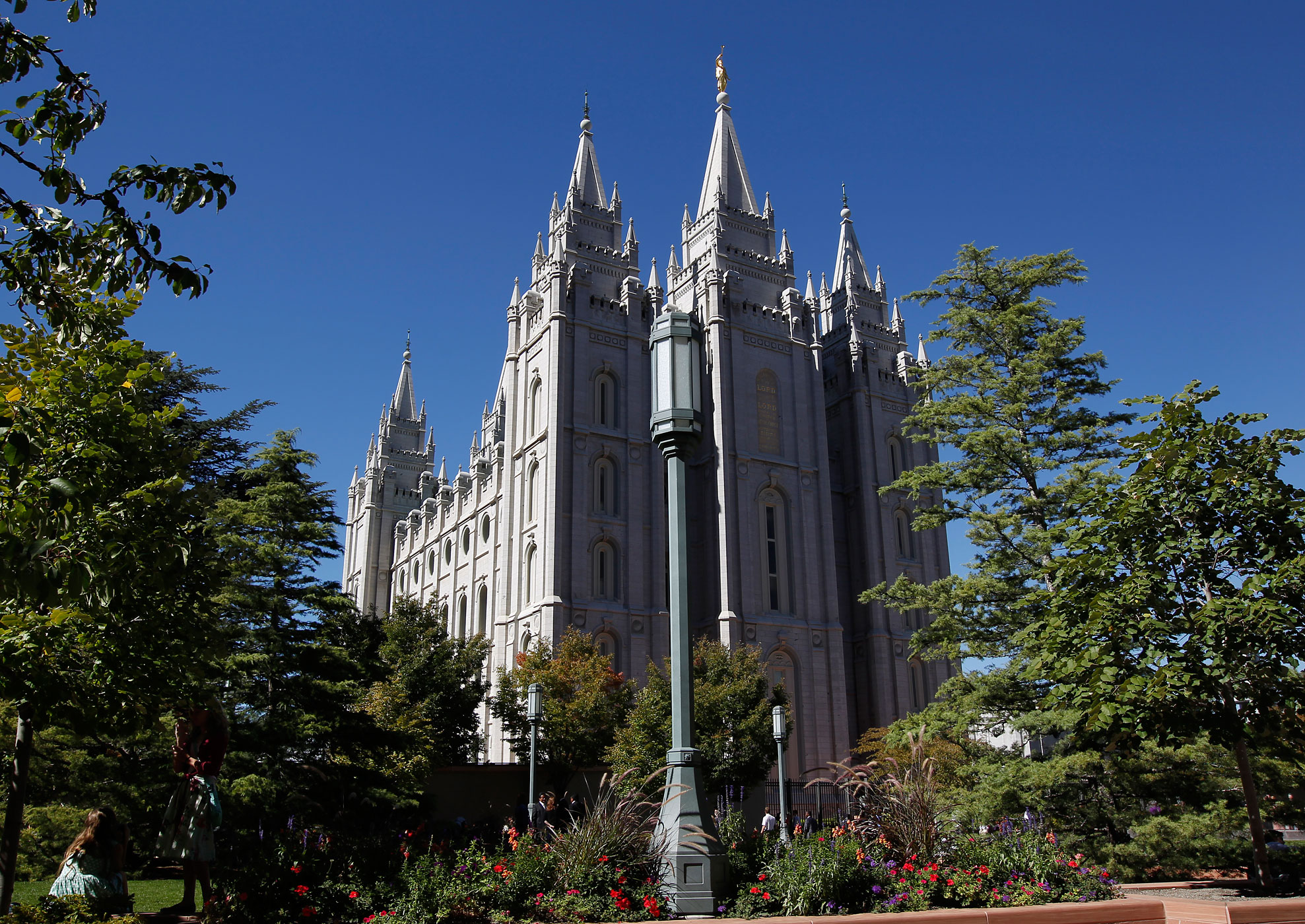 The Salt Lake Temple is seen during the 184th Semiannual General Conference of the Church of Jesus Christ of Latter-Day Saints on Oct. 4, 2014 in Salt Lake City, Utah.