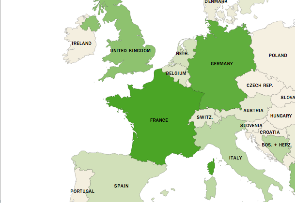 map of muslims in europe Muslims in Europe By 2030: Population Growth Map | Time