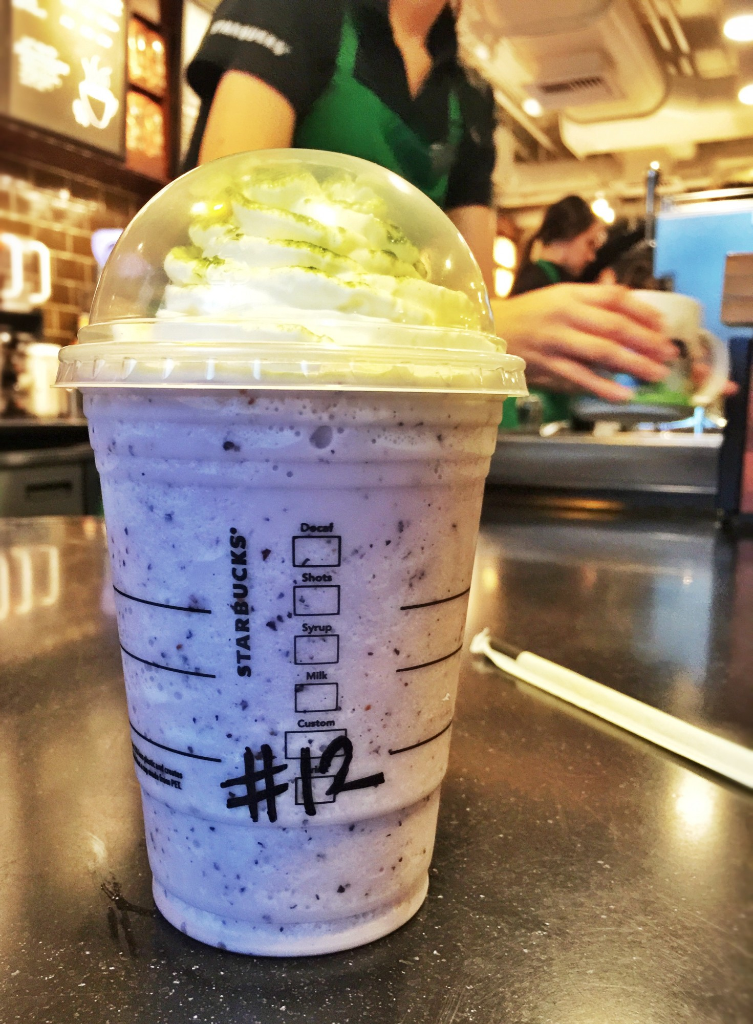 The Seahawks Frappuccino debuts Friday in honor of the team playing in the Super Bowl.