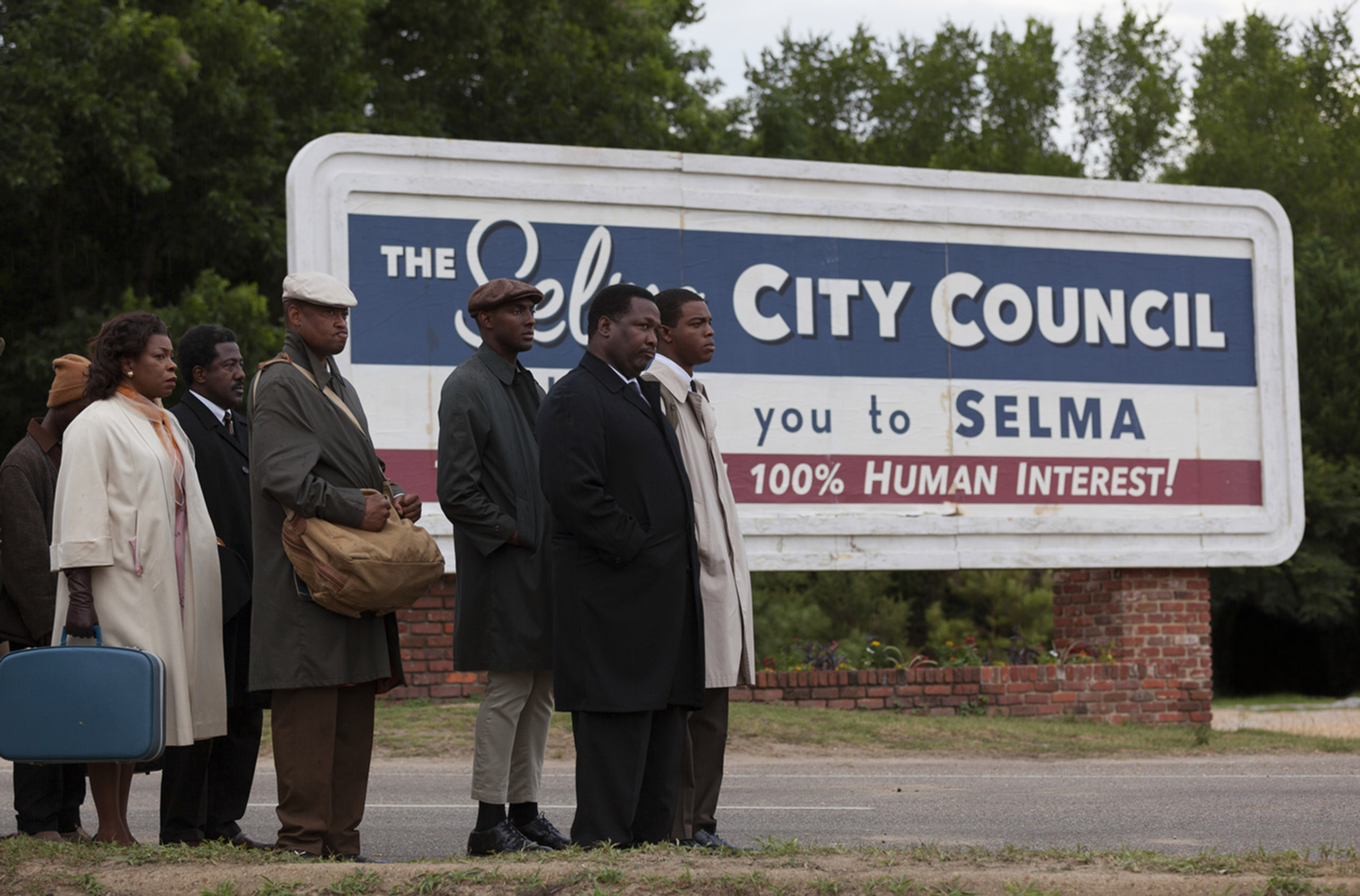 The following photographs were made by James Nachtwey on the set of the <i>Selma</I>.