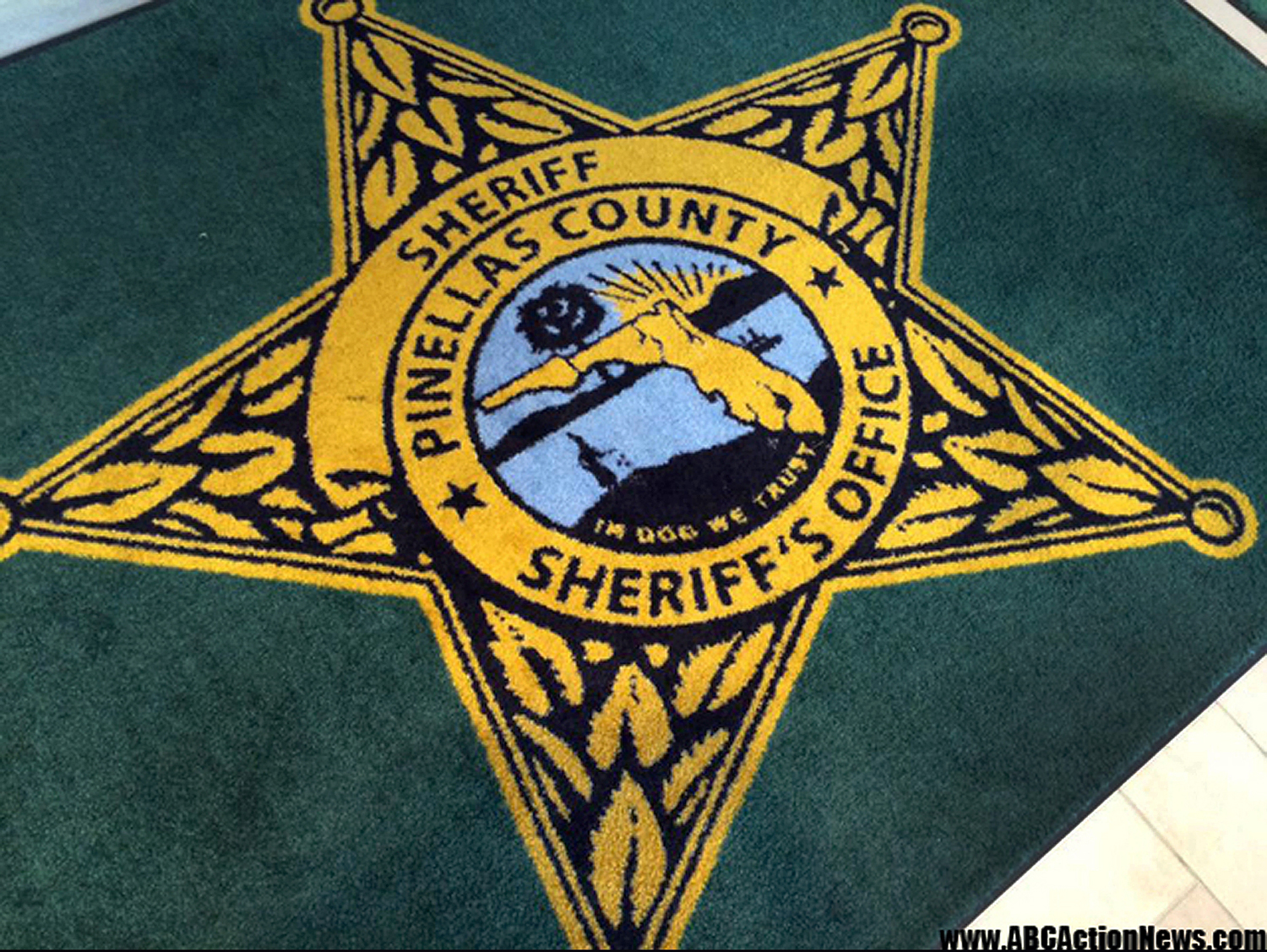 This image released by ABC Action News, shows the Pinellas County Sheriff's Office rug in Largo, Fla., Jan. 14, 2015.