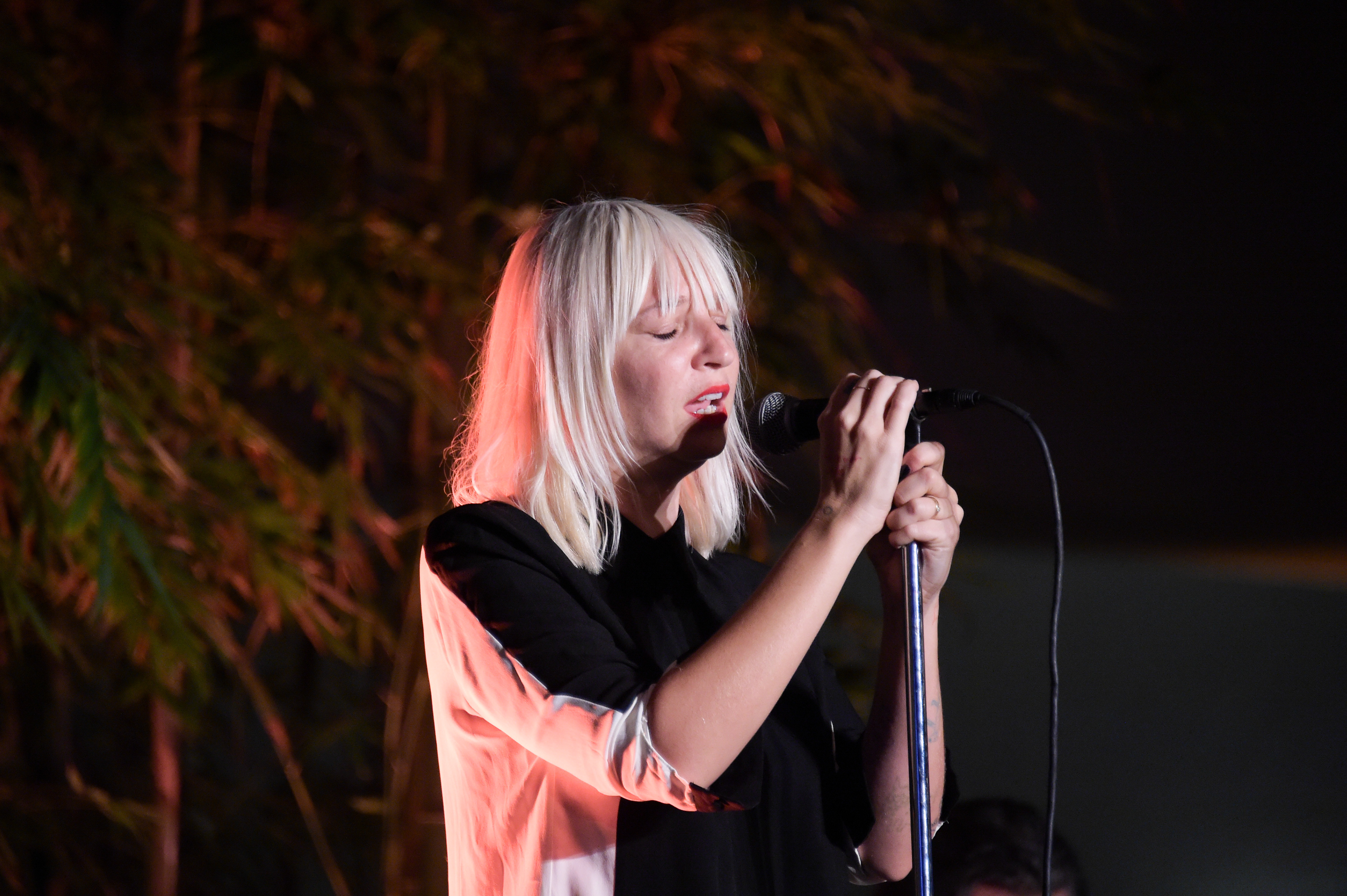 Sia Furler attends Hammer Museum 12th Annual Gala In The Garden on Oct. 12, 2014 in Westwood, California.