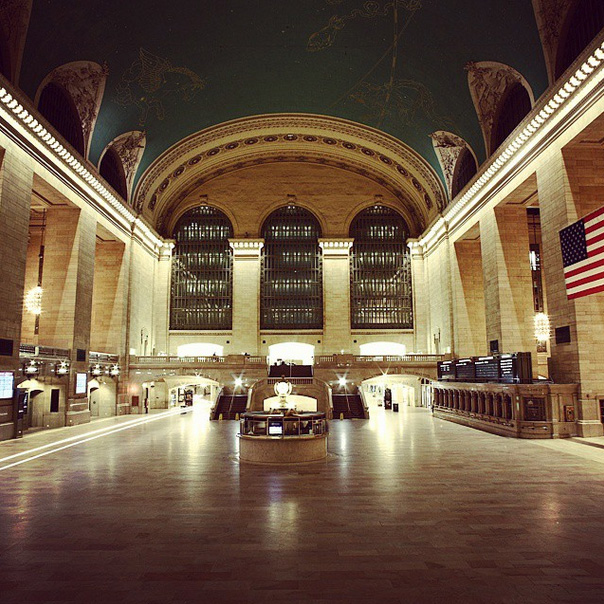 Jaka Vinsek posted this photo of an empty Grand Central Station in New York  on Jan. 26, 2015.