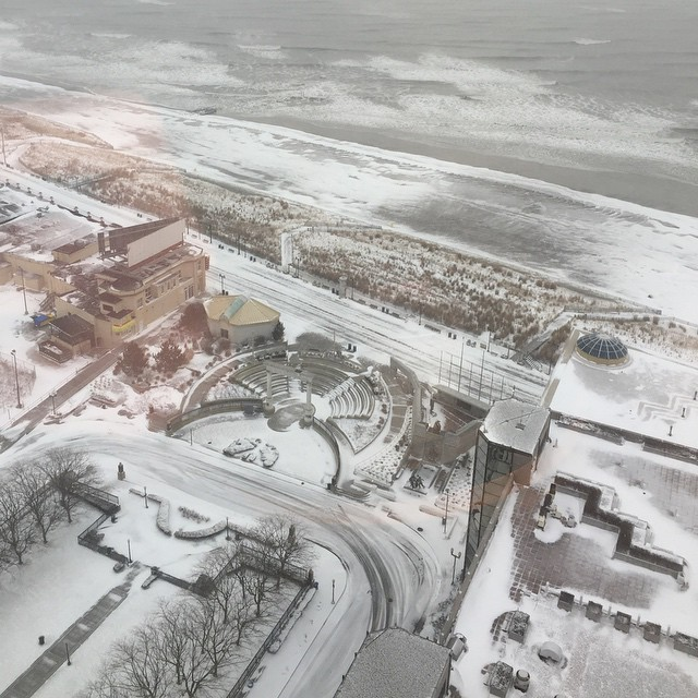 "John DeFoor posted this photo in Atlantic City, N.J. saying ""The view from my room. I cant wait to hit the beach!"""