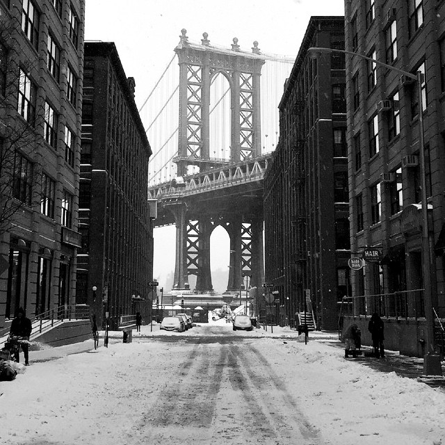 "Nicole Drummond  posted from the Brooklyn borough of New York City saying ""It was quiet streets early this morning in DUMBO and we got to explore it all!"""