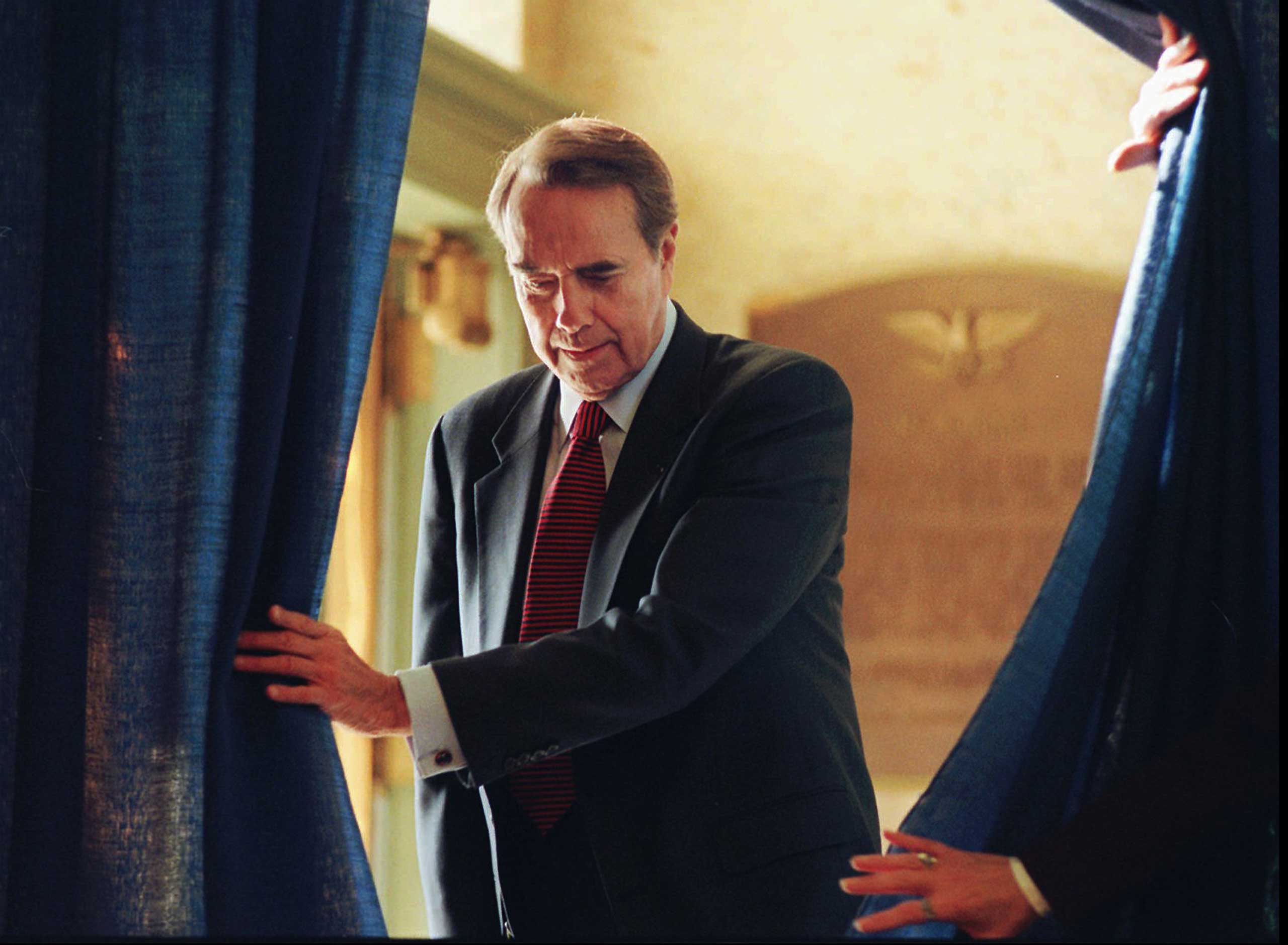 Sen. Bob Dole gave the response to Clinton in 1996. Later that year, he ran against Clinton and lost.