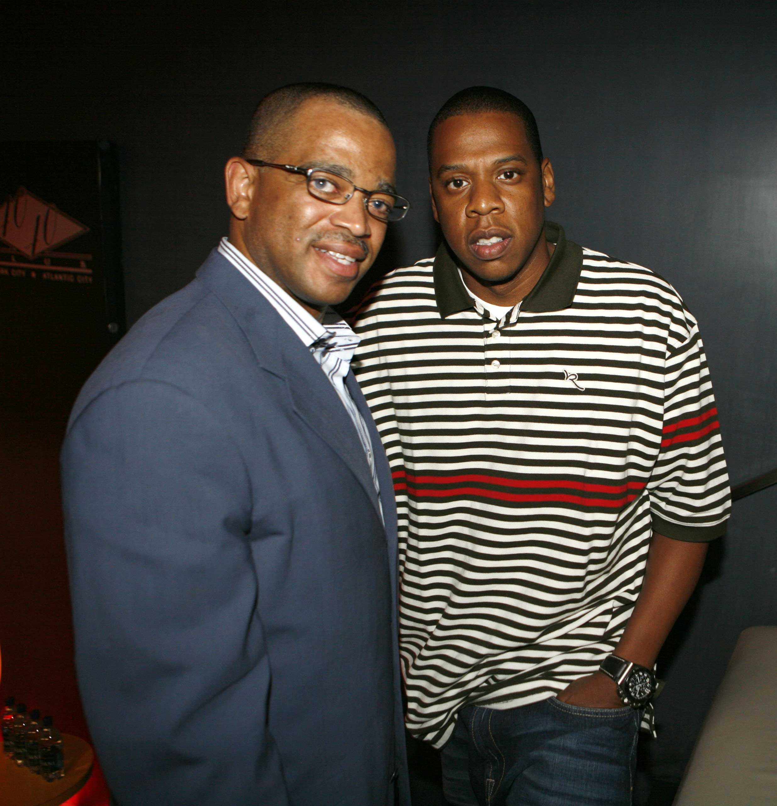 Scott and Jay-Z at the ESPN Desportes Launch Party at The 40/40 Club on May 17, 2006 in New York.