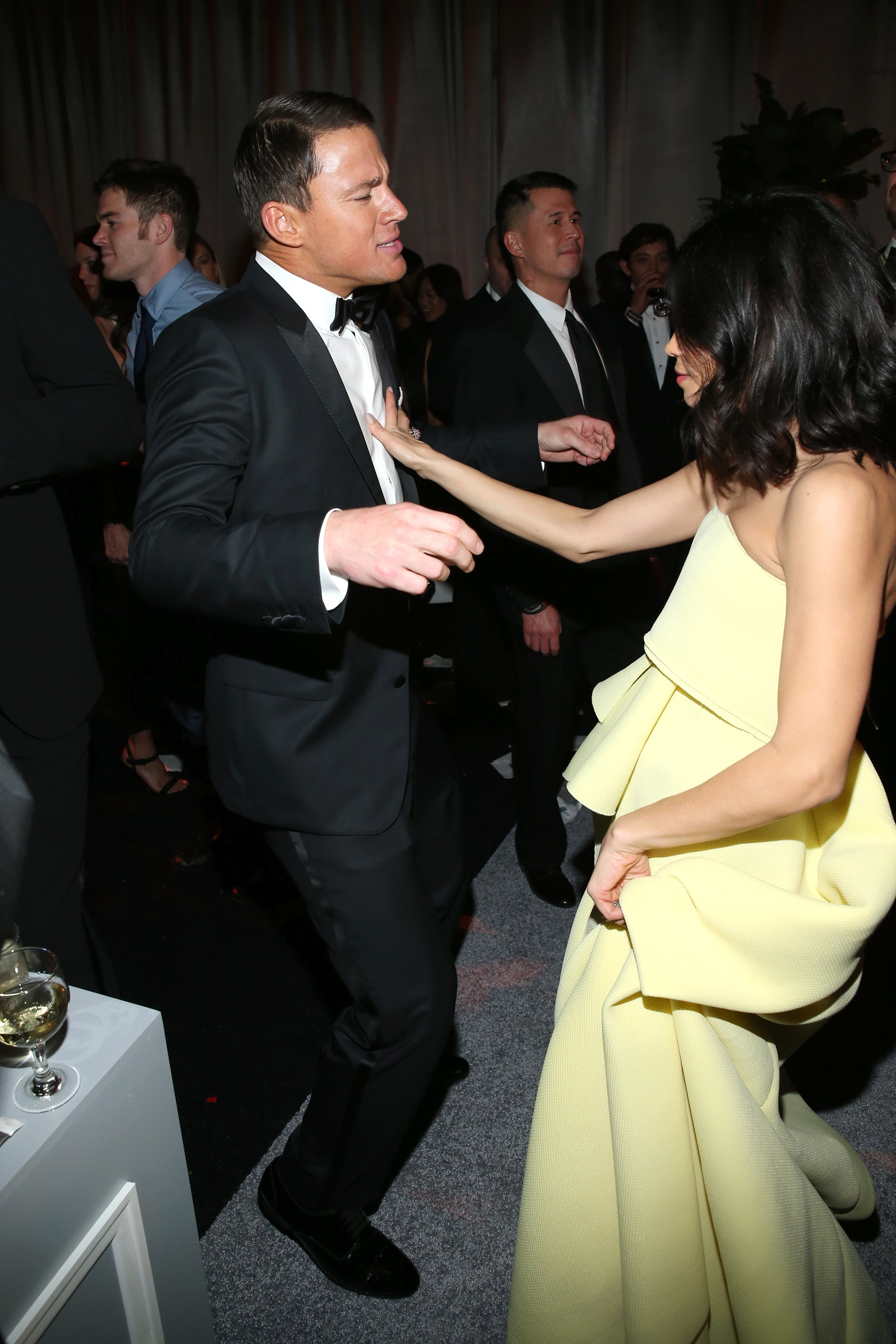 Channing Tatum and wife Jenna Dewan at the 2015 Golden Globes After Party at The Beverly Hilton Hotel on Jan. 11, 2015 in Beverly Hills, Calif.