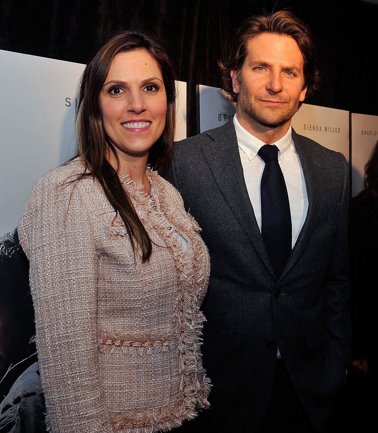 Taya Kyle, left, and Bradley Cooper attend the opening of American Sniper at the Burke Theater at the U.S. Navy Memorial on Jan. 13, 2015 in Washington, DC.