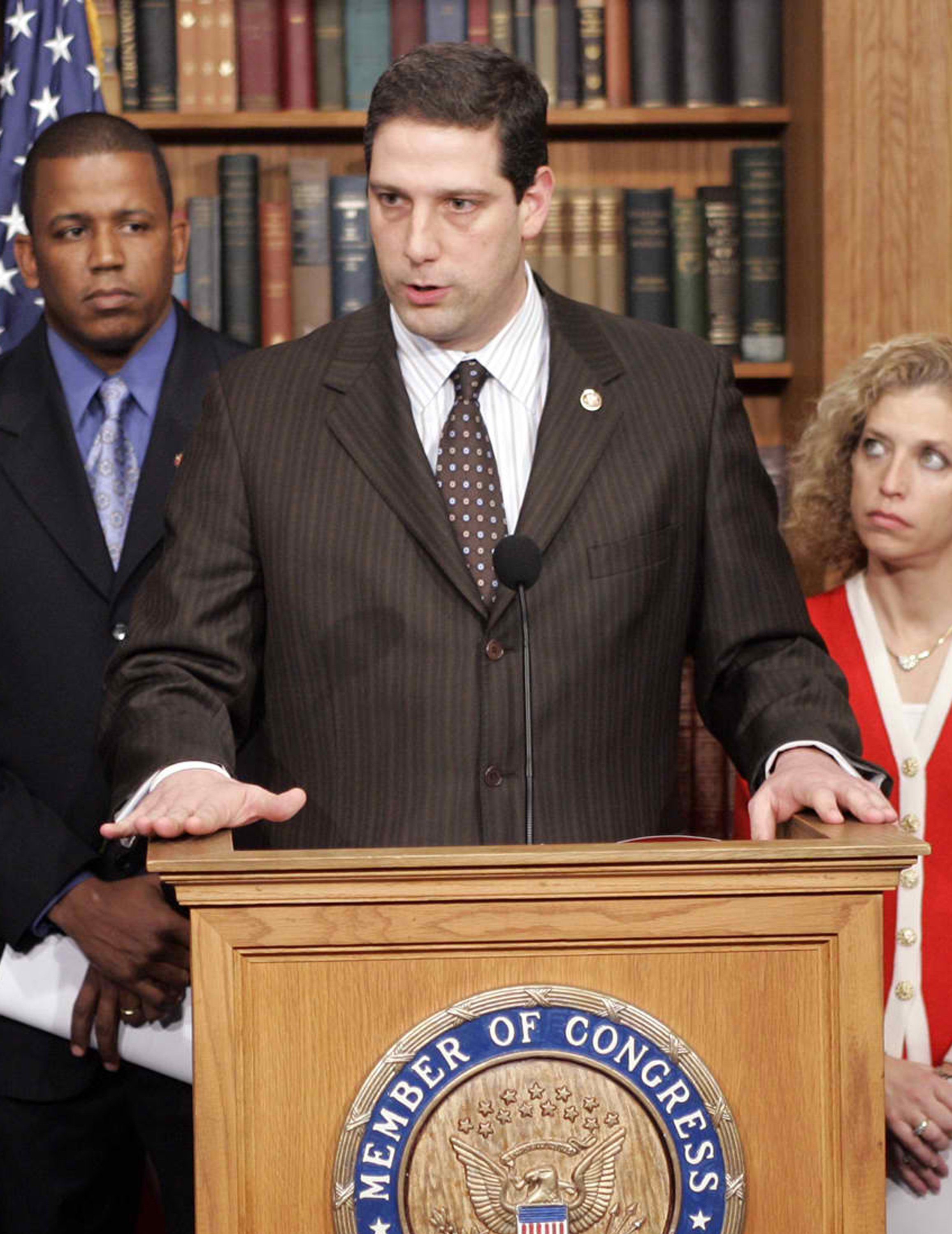 Rep. Tim Ryan, D-Ohio, speaks at a news conference in Washington on Feb. 14, 2007.