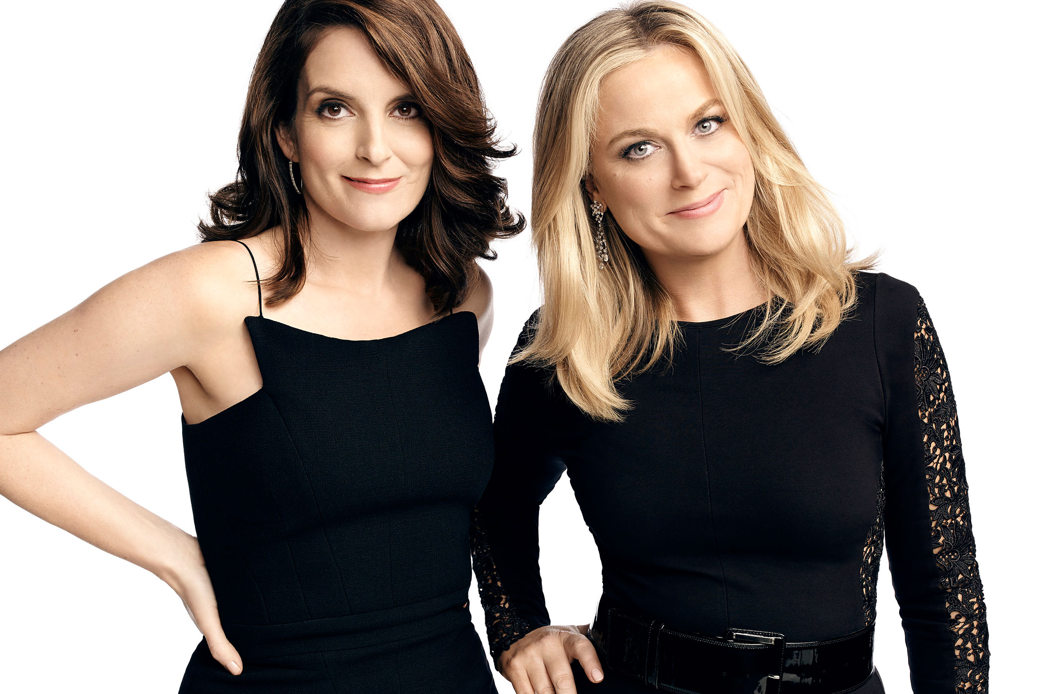 Tina Fey and Amy Poehler, co-hosts of the 72nd Annual Golden Globe Awards