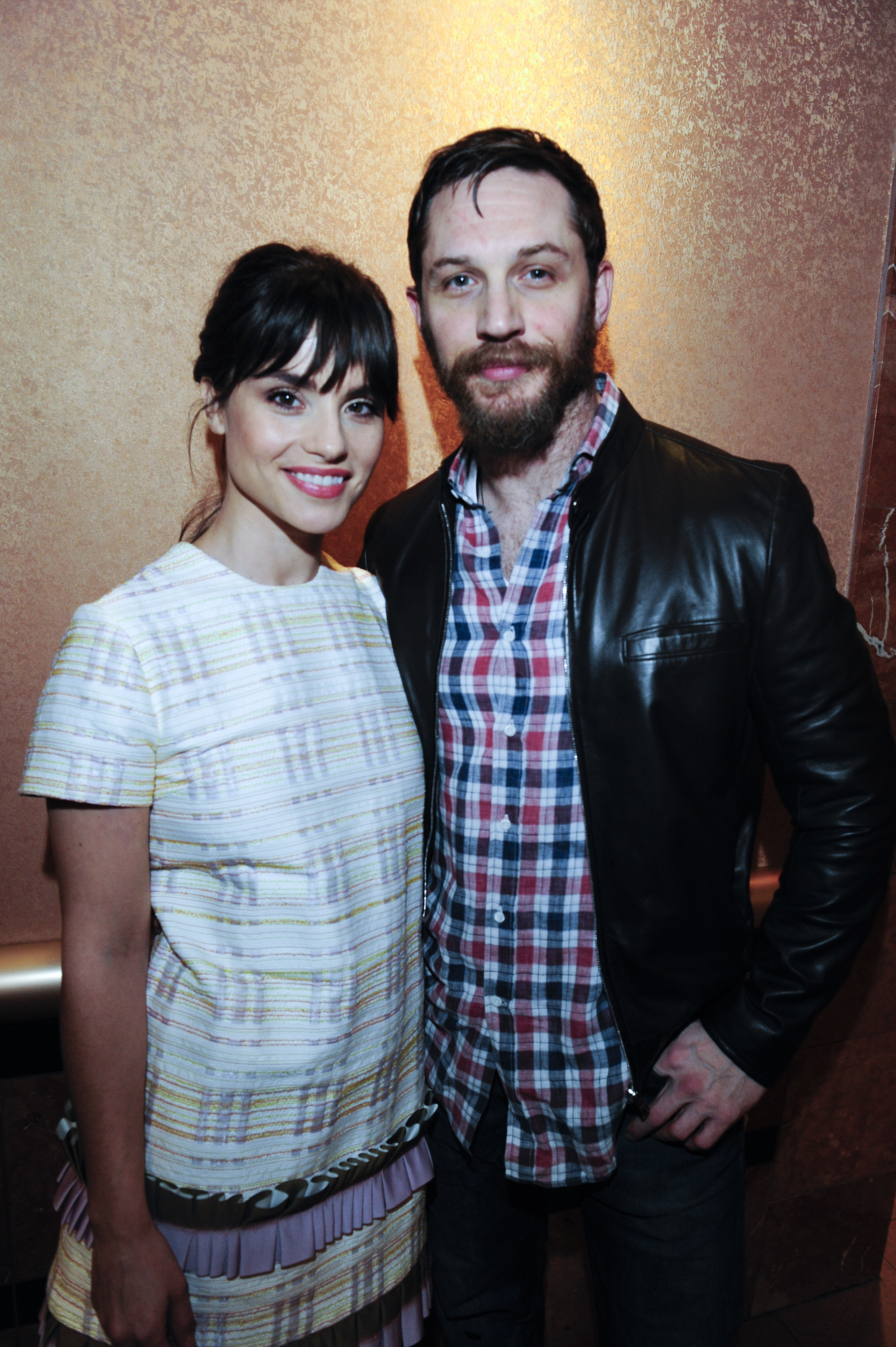 Charlotte Riley and Tom Hardy attend the US Premiere of 'Grand Street' during the 26th Annual Palm Springs International Film Festival Film on Jan. 8, 2015 at The Regal Theater in Palm Springs, California.