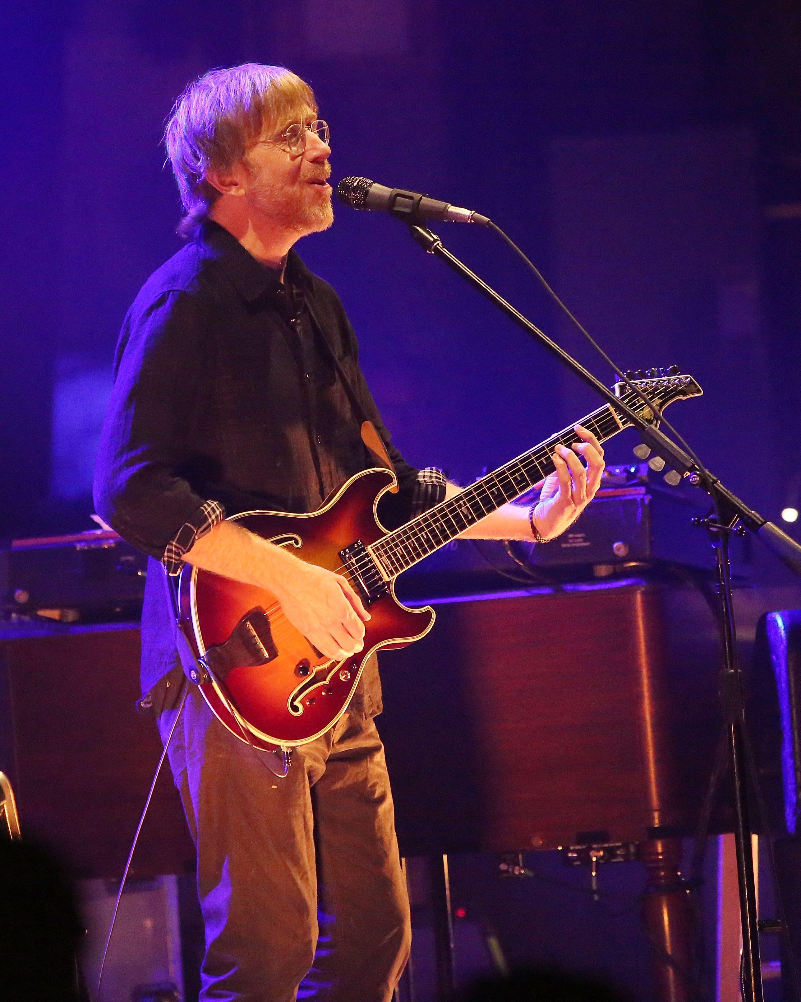 Trey Anastasio performs at Beacon Theatre on December 11, 2014 in New York City.