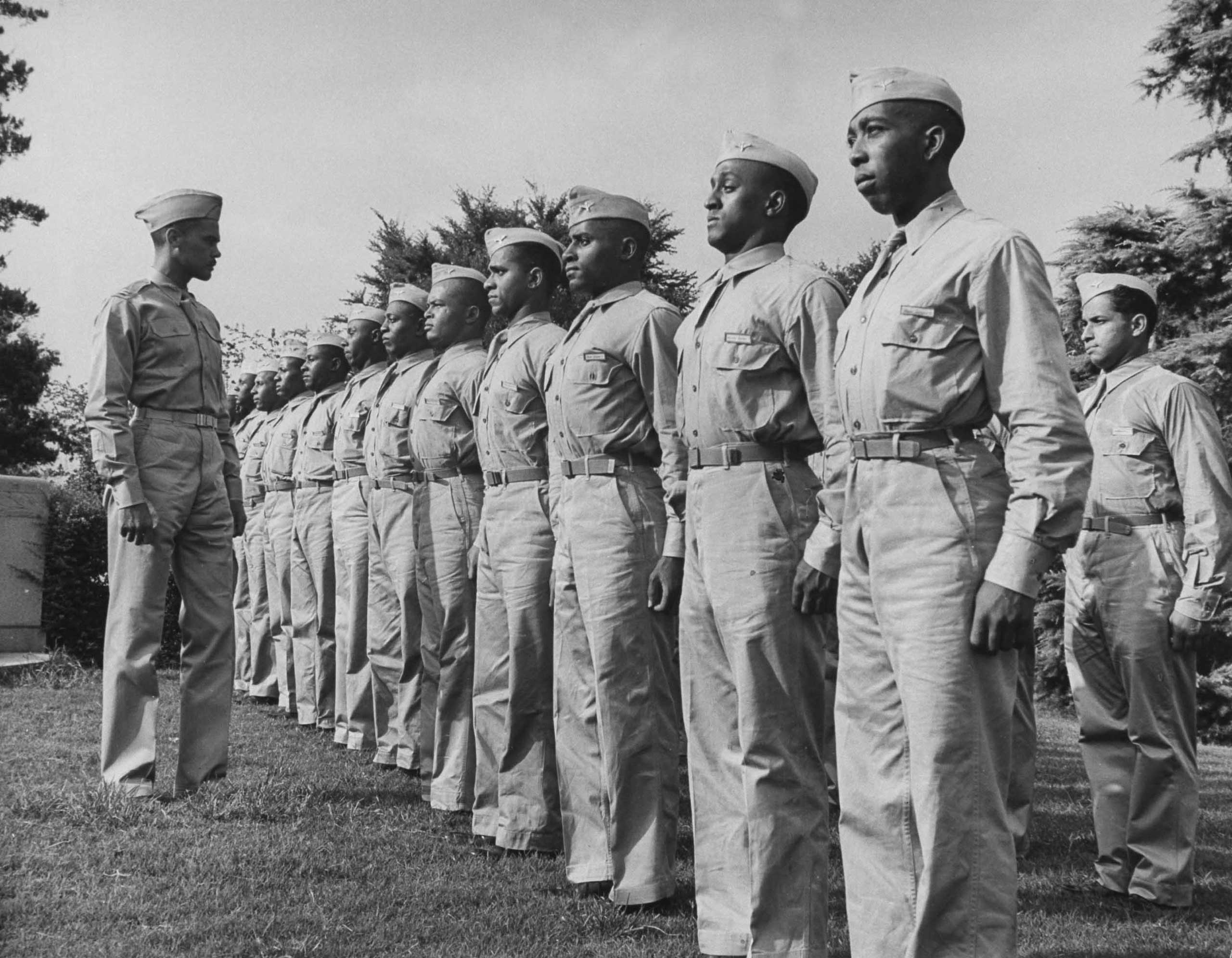 A group of Tuskegee Airmen in Alabama in 1942.