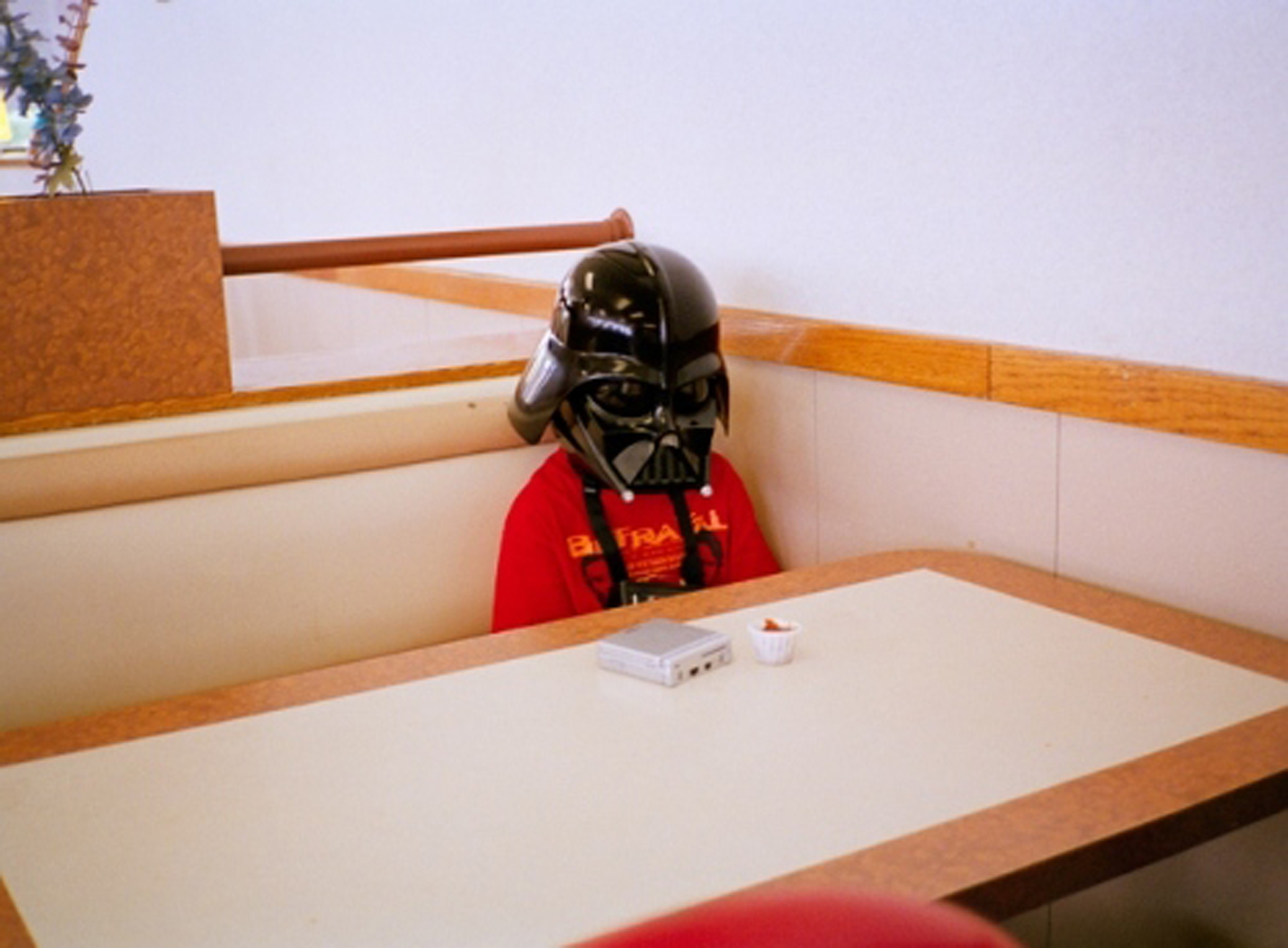 This photo of a kid dressed as Darth Vader inside a Burger King inspired the creative team at Deutsch as they were making  The Force  ad.