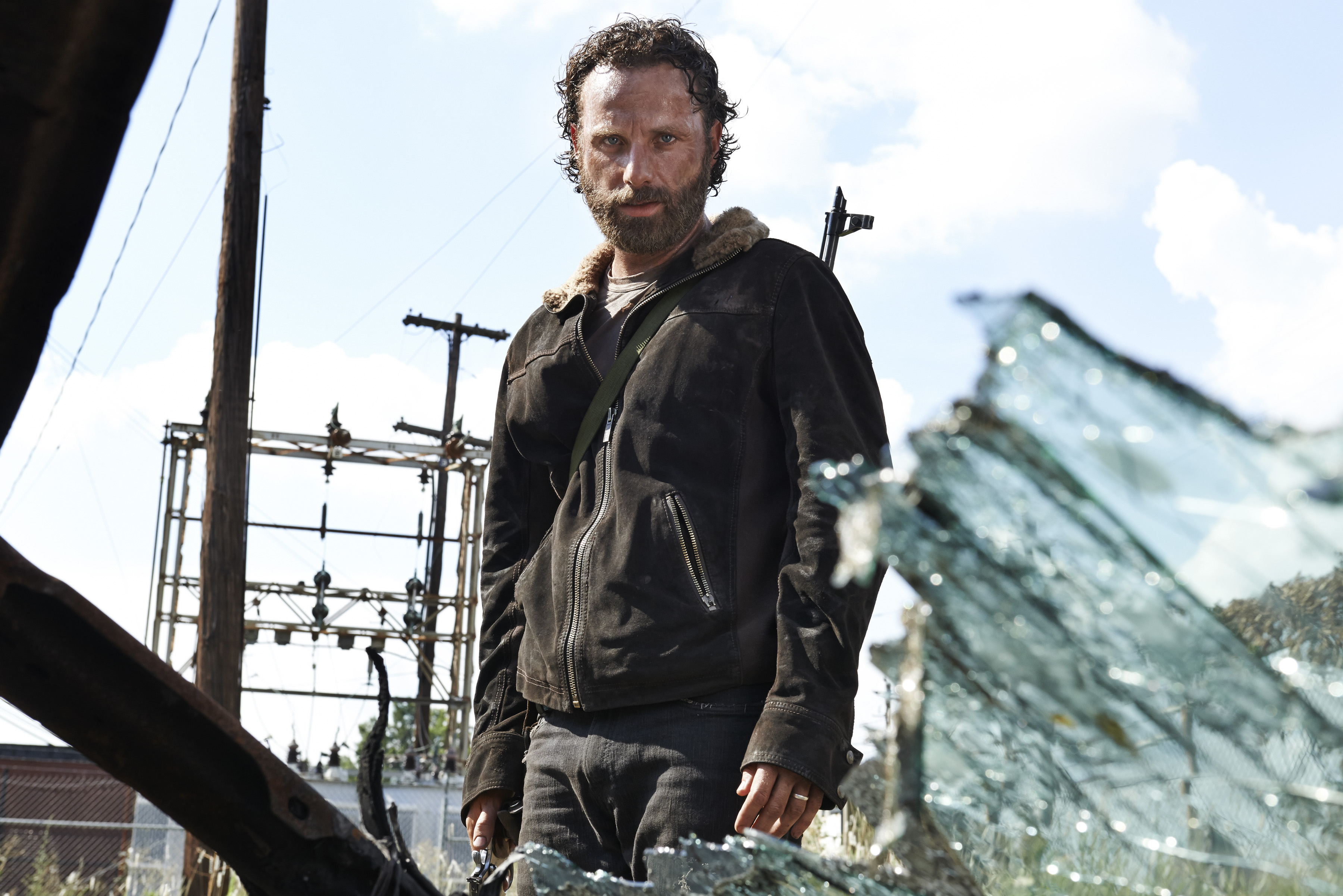 Andrew Lincoln as Rick Grimes in The Walking Dead, Season 5.