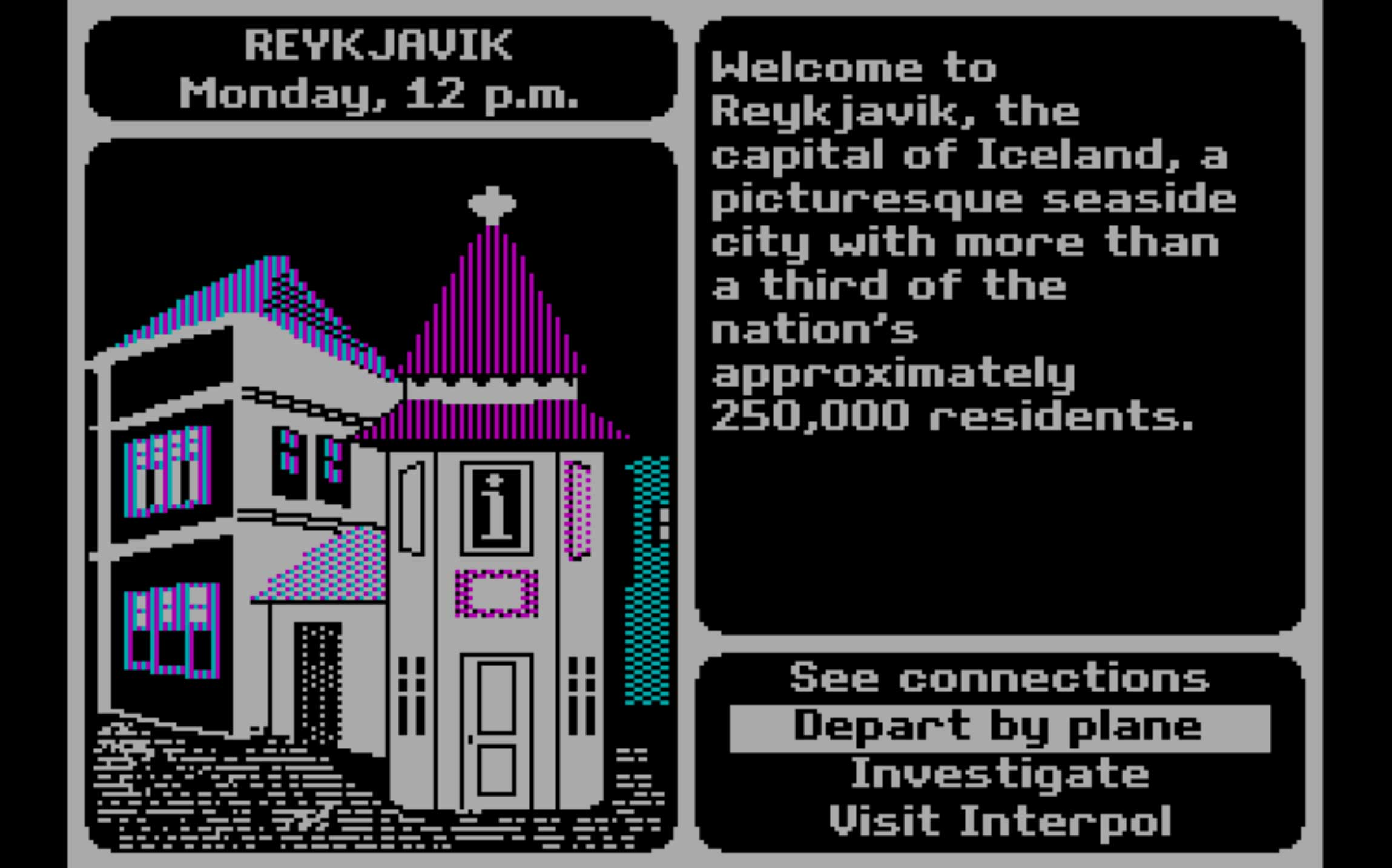 Where In The World Is Carmen Sandiego (1985)                                                              This educational title rocked elementary school kids' worlds back in the 1980s, putting their geography and history smarts to the test. (How would you do with it, today?) Perhaps the best part of this browser version is its throwback sound effects.