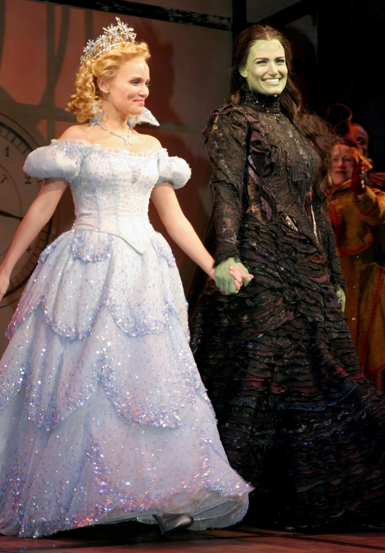 Kristin Chenoweth and Idina Menzel, 'Wicked's' original stars, at curtain call.