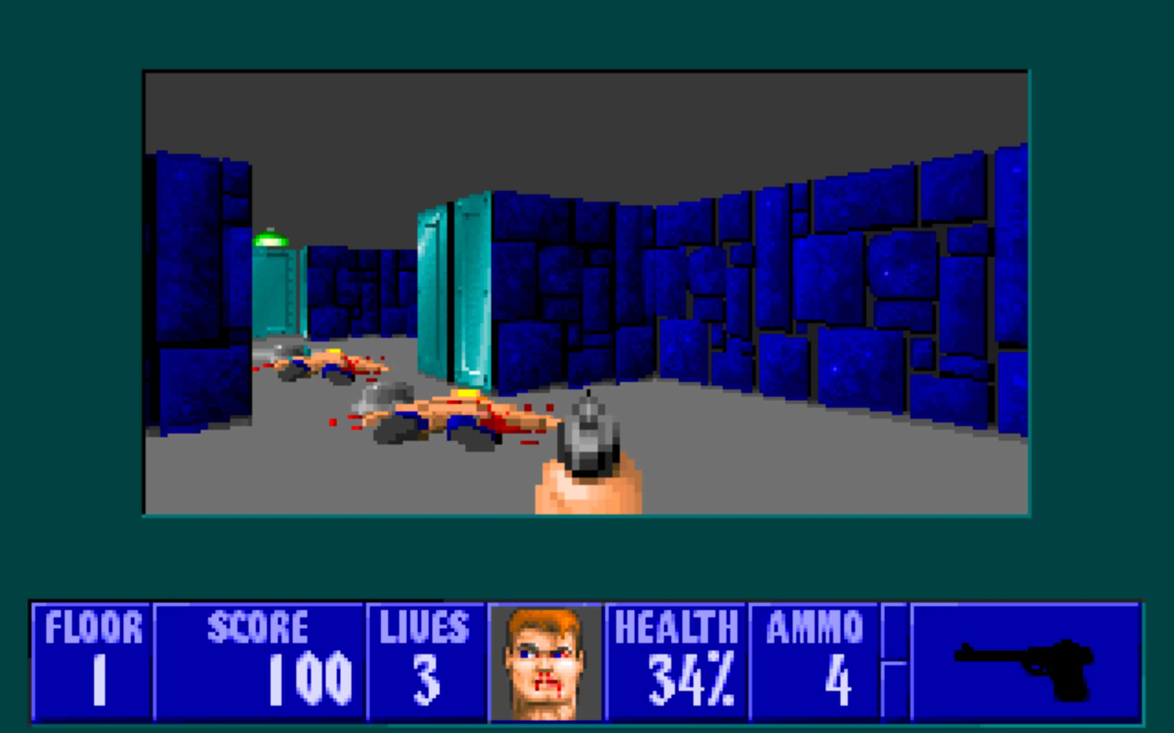 Wolfenstein 3D (1992)                                                               The precursor to Doom, Quake, and many of the gore-fests roaring across consoles today, this 1992 first-person shooter has you, as allied spy B.J. Blazkowicz, racing to escape the Nazi's clutches.