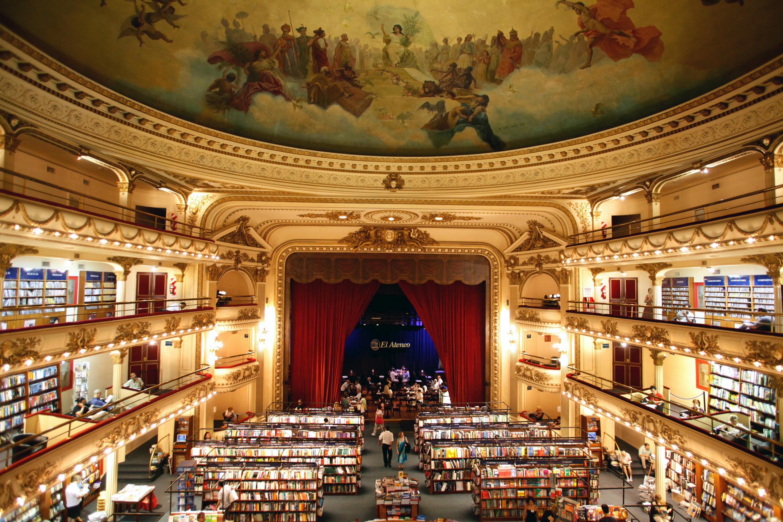 El Ateneo Grand bookshop in Buenos Aires, Argentina.