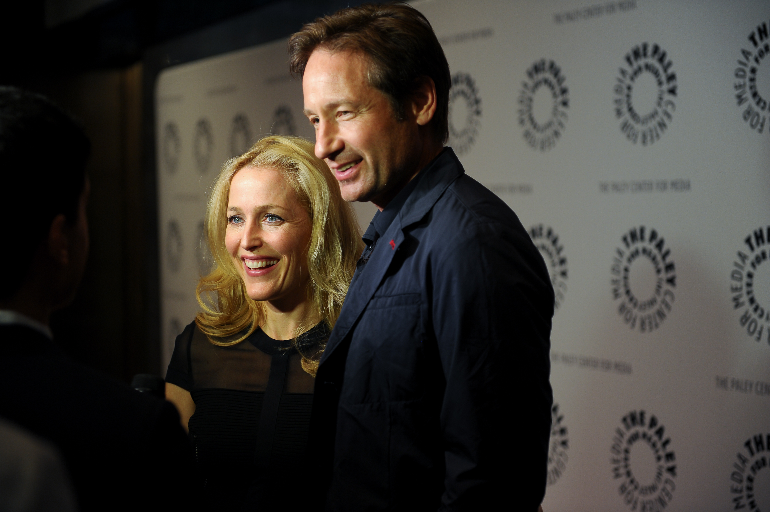 From Left: Gillian Anderson and David Duchovny attend The Truth Is Here: David Duchovny And Gillian Anderson On  The X-Files  at The Paley Center for Media on Oct. 12, 2013 in New York City.