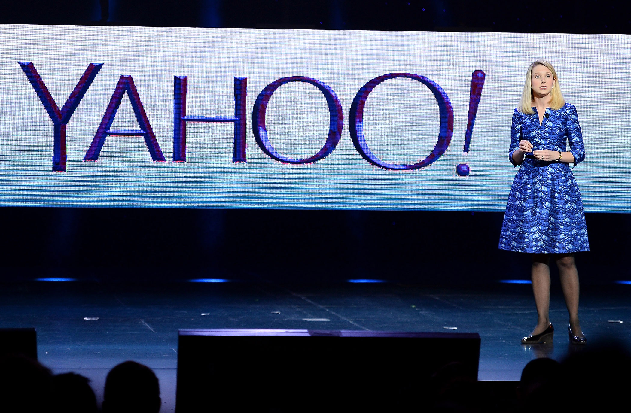 Yahoo! President and CEO Marissa Mayer delivers a keynote address at the 2014 International CES on Jan. 7, 2014 in Las Vegas, NV.