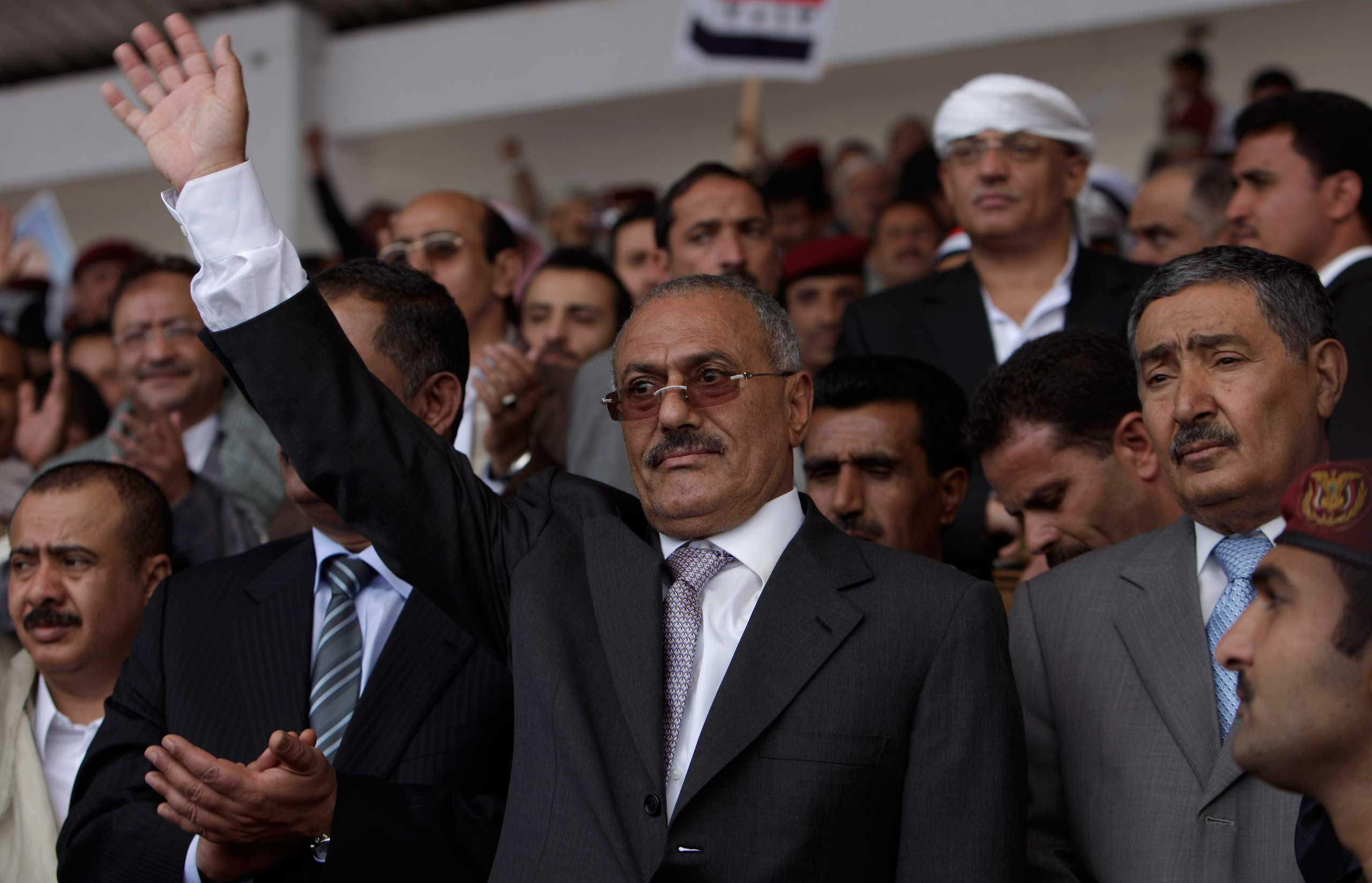 An explosion at the presidential palace on June 3, 2011, badly burned President Ali Abdullah Saleh, who left for Saudi Arabia for treatment but, to the dismay of opposition activists, returned to Sana'a in September