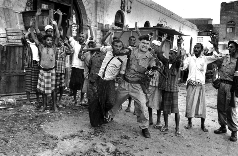 "An insurgency known as the ""Aden Emergency"" emerges after a grenade is thrown at a group of British military officers in a part of southern Yemen, which was still a British protectorate."