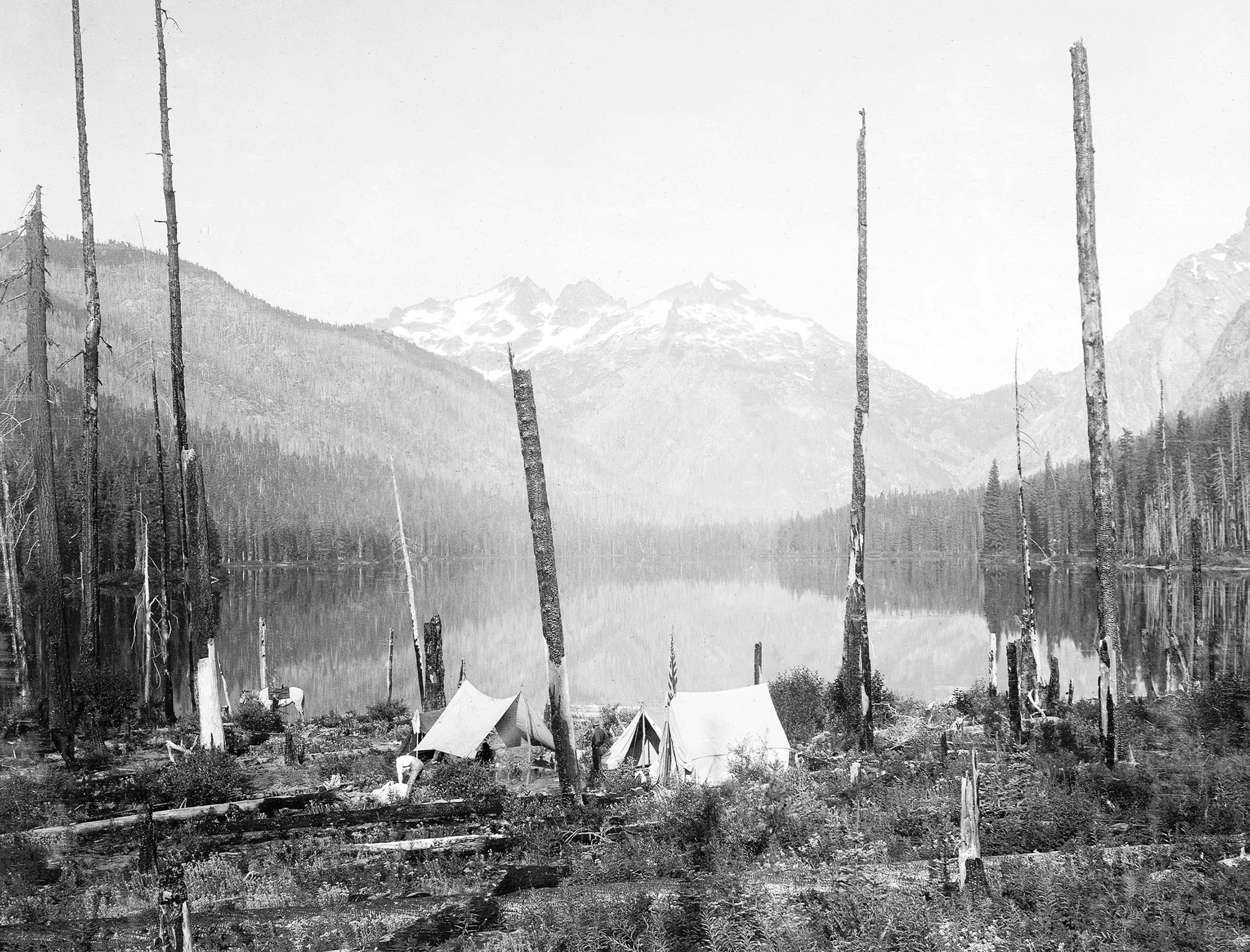 Wapitas Lake. Kittitas County, Wash., c 1900.