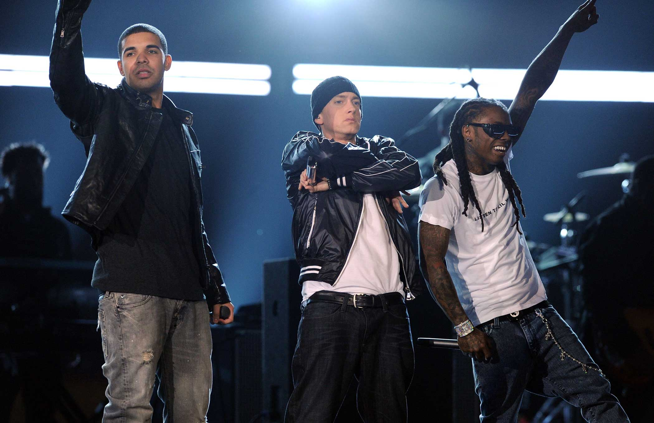 "Eminem and Drake joined forces (along with Kanye West and Lil Wayne) for the 2009 hit ""Forever."""