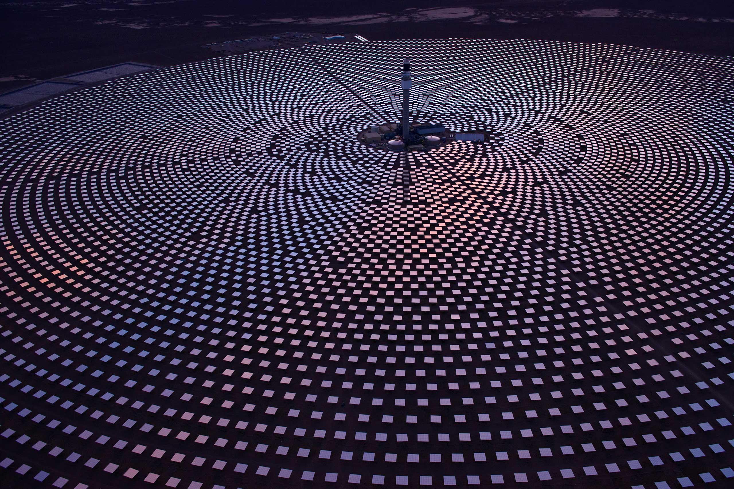 The Crescent Dunes Solar Energy Project, near Tonopah, Nev.