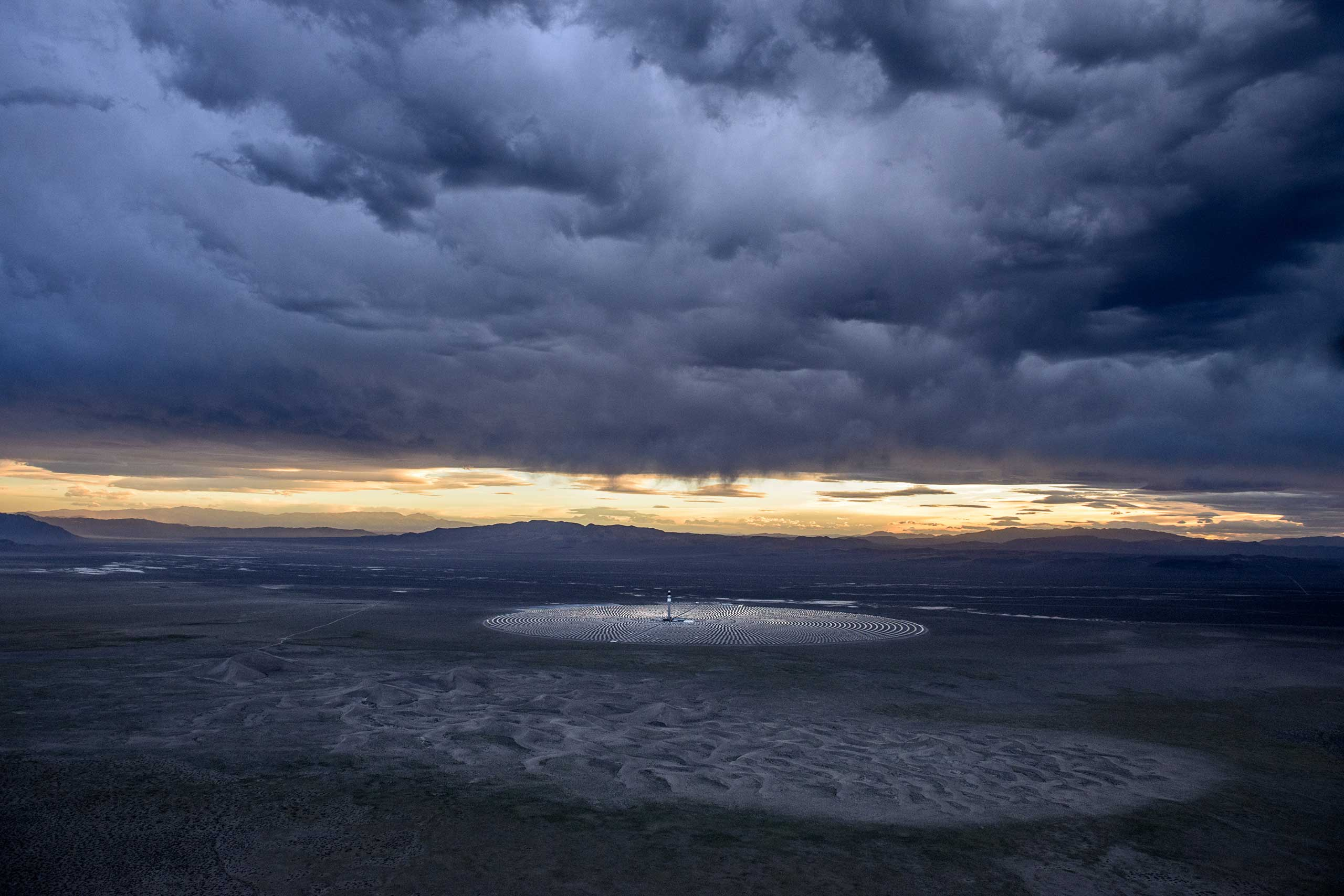 The Crescent Dunes Solar Plant, near Tonopah, Nev.