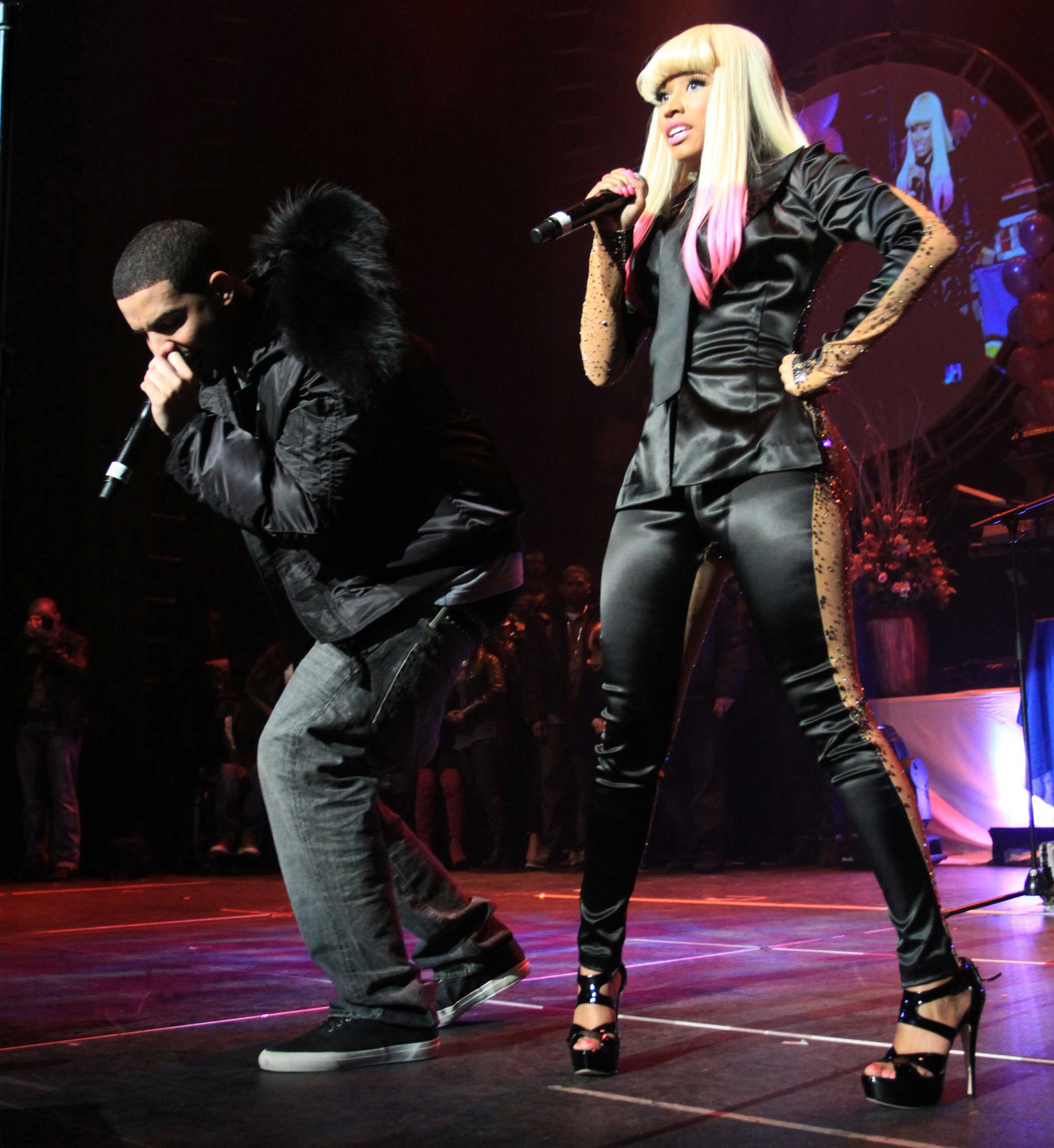 "Drake's fellow Young Money artist Nicki Minaj has appeared on several of his songs, like ""Up All Night"" in 2010 and ""Make Me Proud"" in 2011. Drake has appeared on her recent songs like ""Only"" and ""Truffle Butter."""