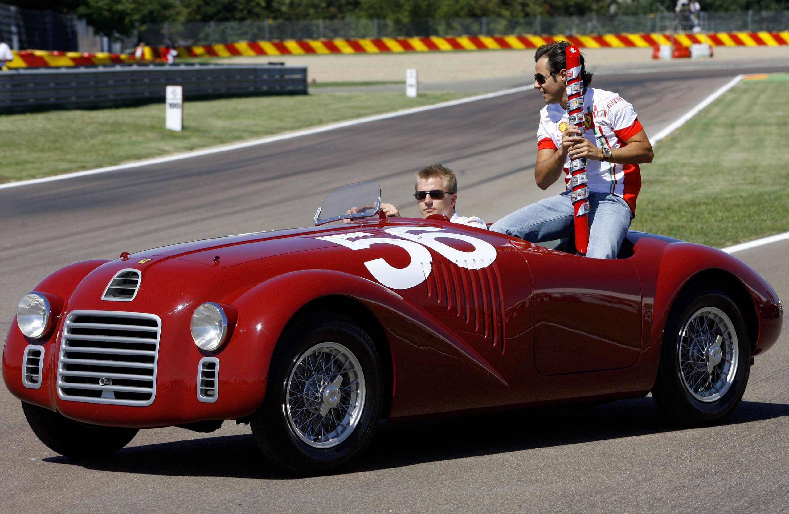 1947:  After two decades of manufacturing only race cars, Ferrari debuted its first road car, the 125 S.