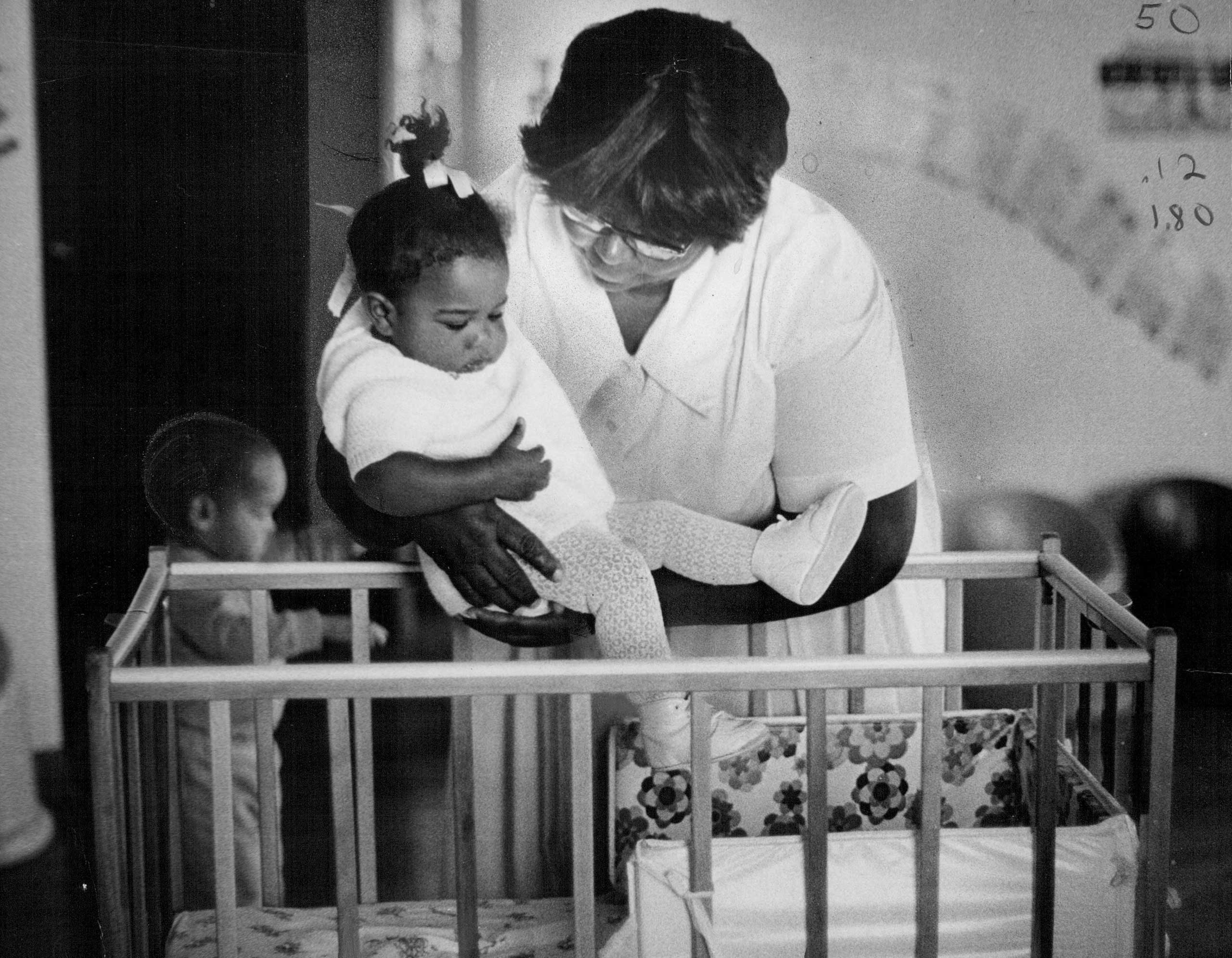 """<b>Universal Child Care, Nixon, 1971</b> America came close to a system of universal, federally financed day care. But after the Comprehensive Child Development Act passed Congress on a bipartisan vote in 1971, President Nixon vetoed it, arguing it would weaken families with """"communal approaches to child rearing."""" The idea then faded from American politics. (Photo: University of Denver nursery, Oct. 13, 1971.)"""
